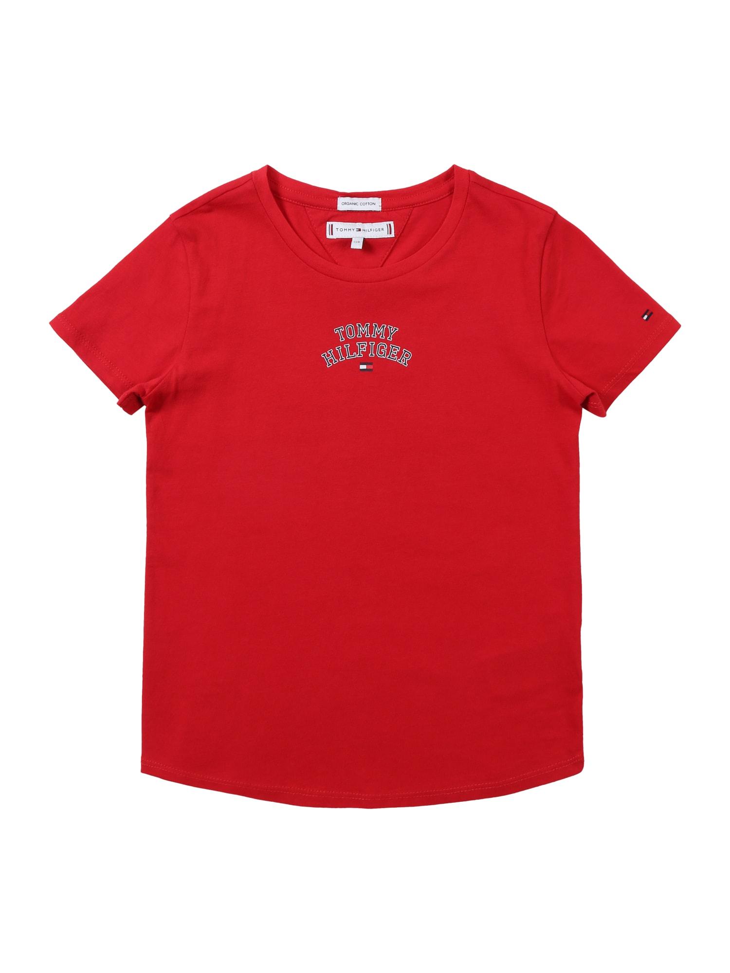 Tričko ESSENTIAL TOMMY NEW YORK SS TEE červená TOMMY HILFIGER