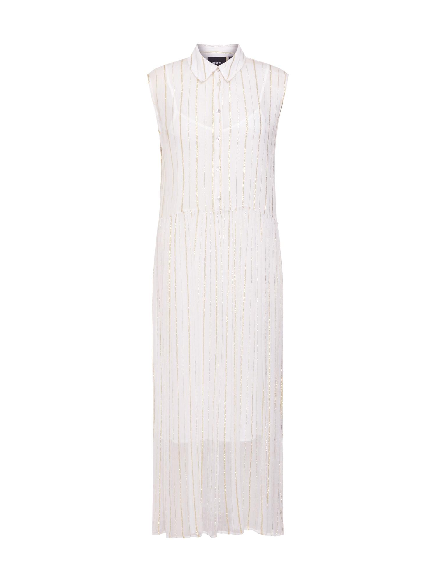 Šaty Vaneda zlatá bílá OBJECT