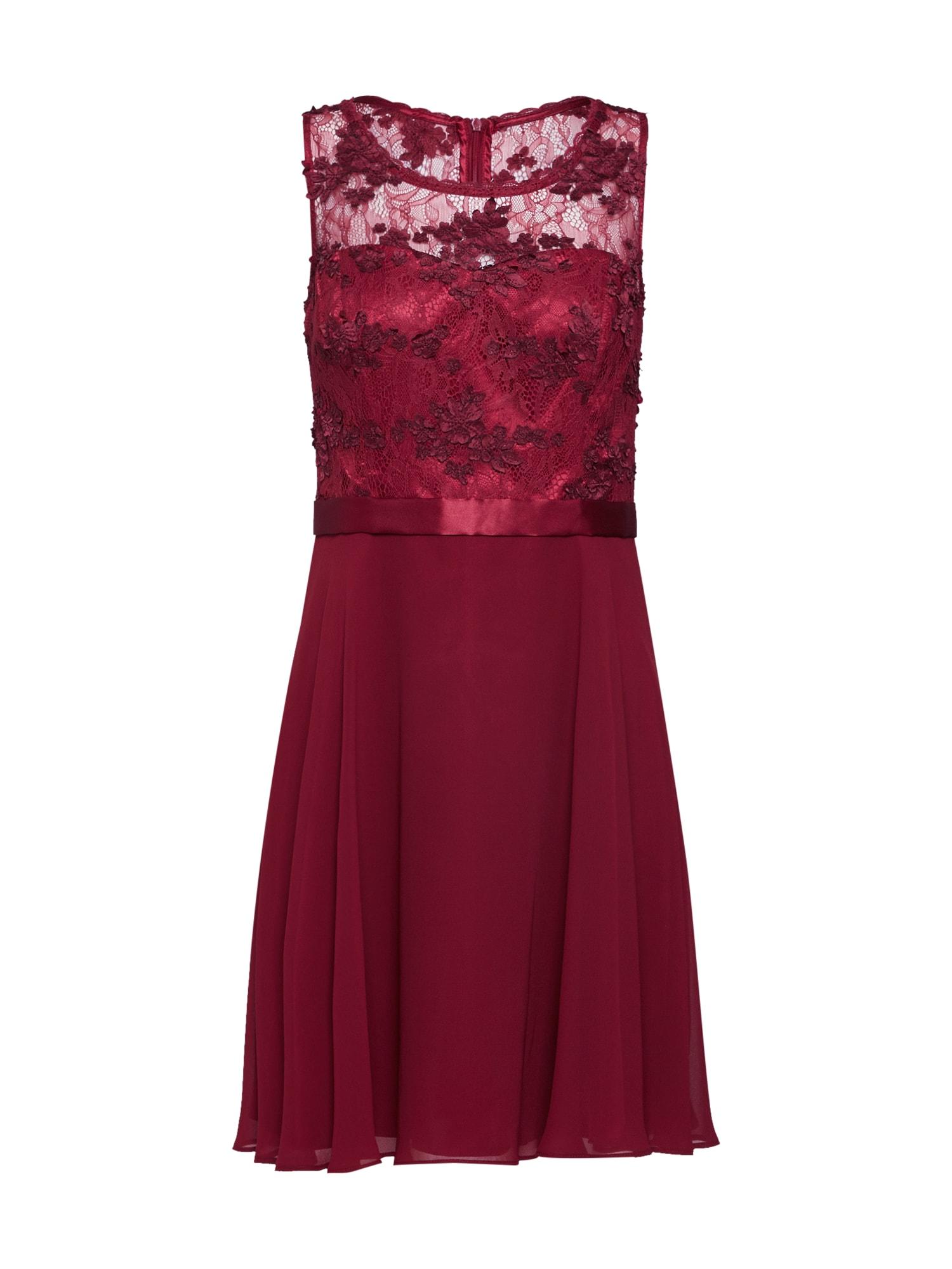Koktejlové šaty burgundská červeň VM Vera Mont