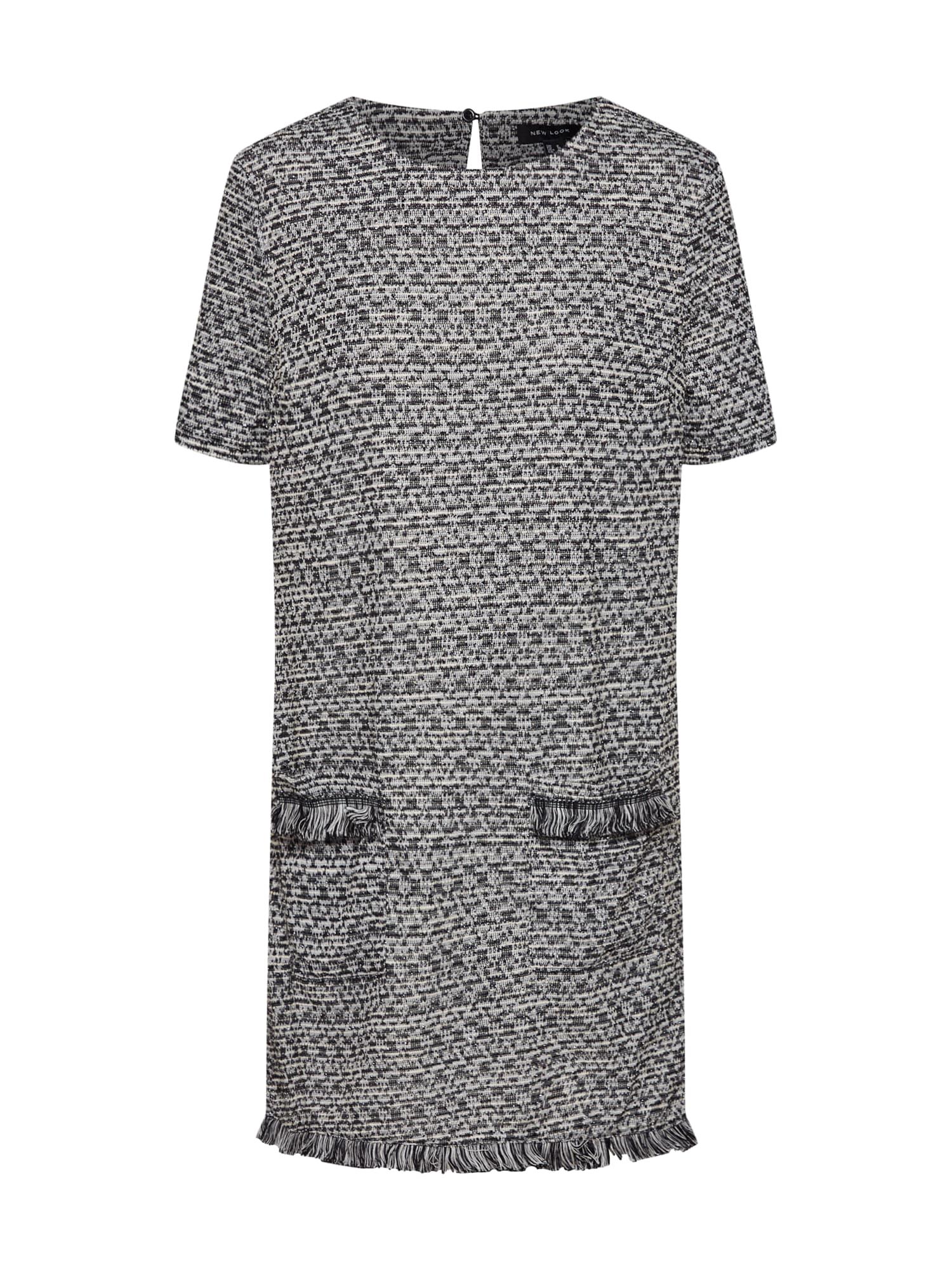 Šaty šedá černá bílá NEW LOOK