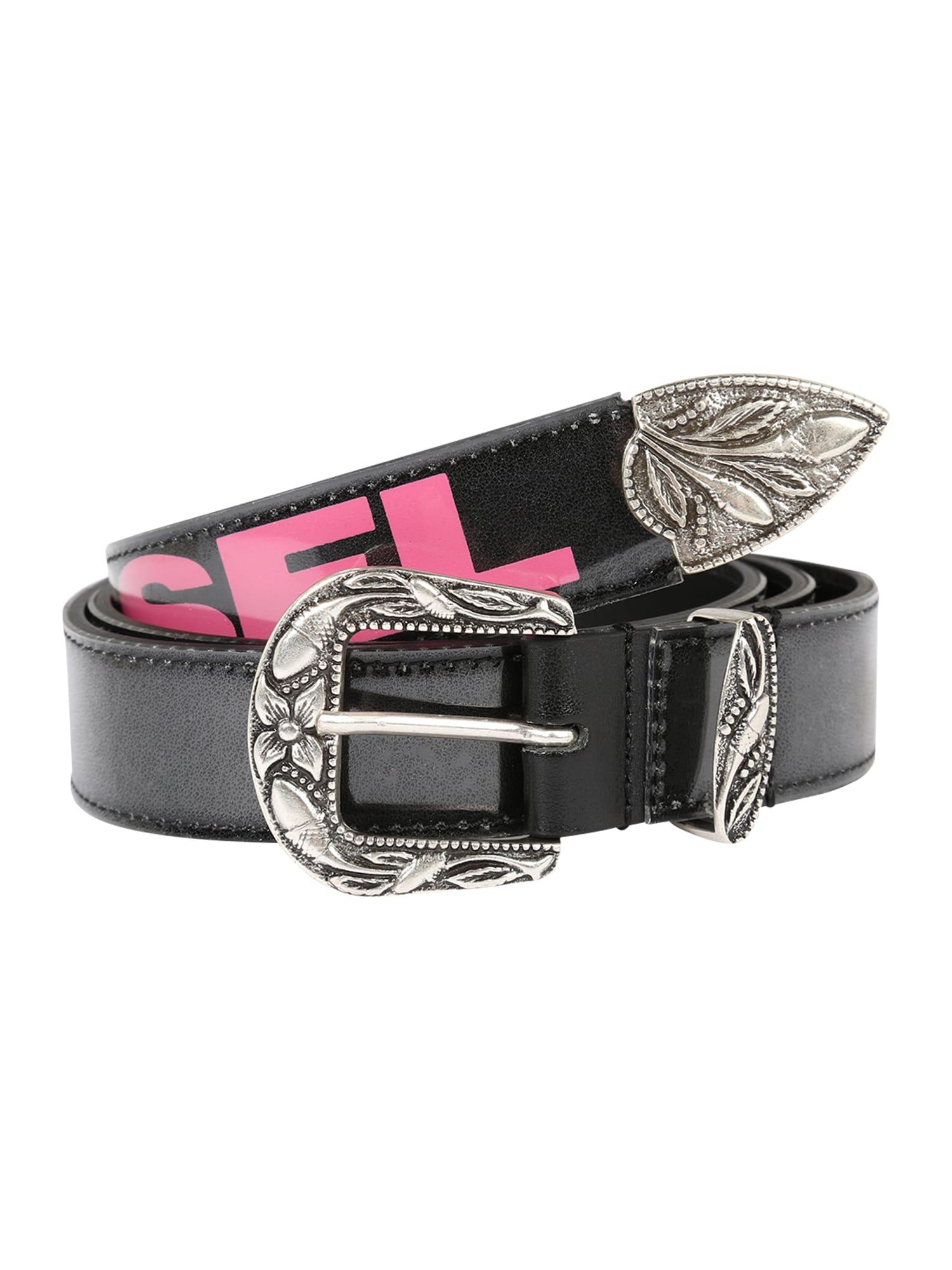 Opasek - B-STIC-F - belt černá DIESEL