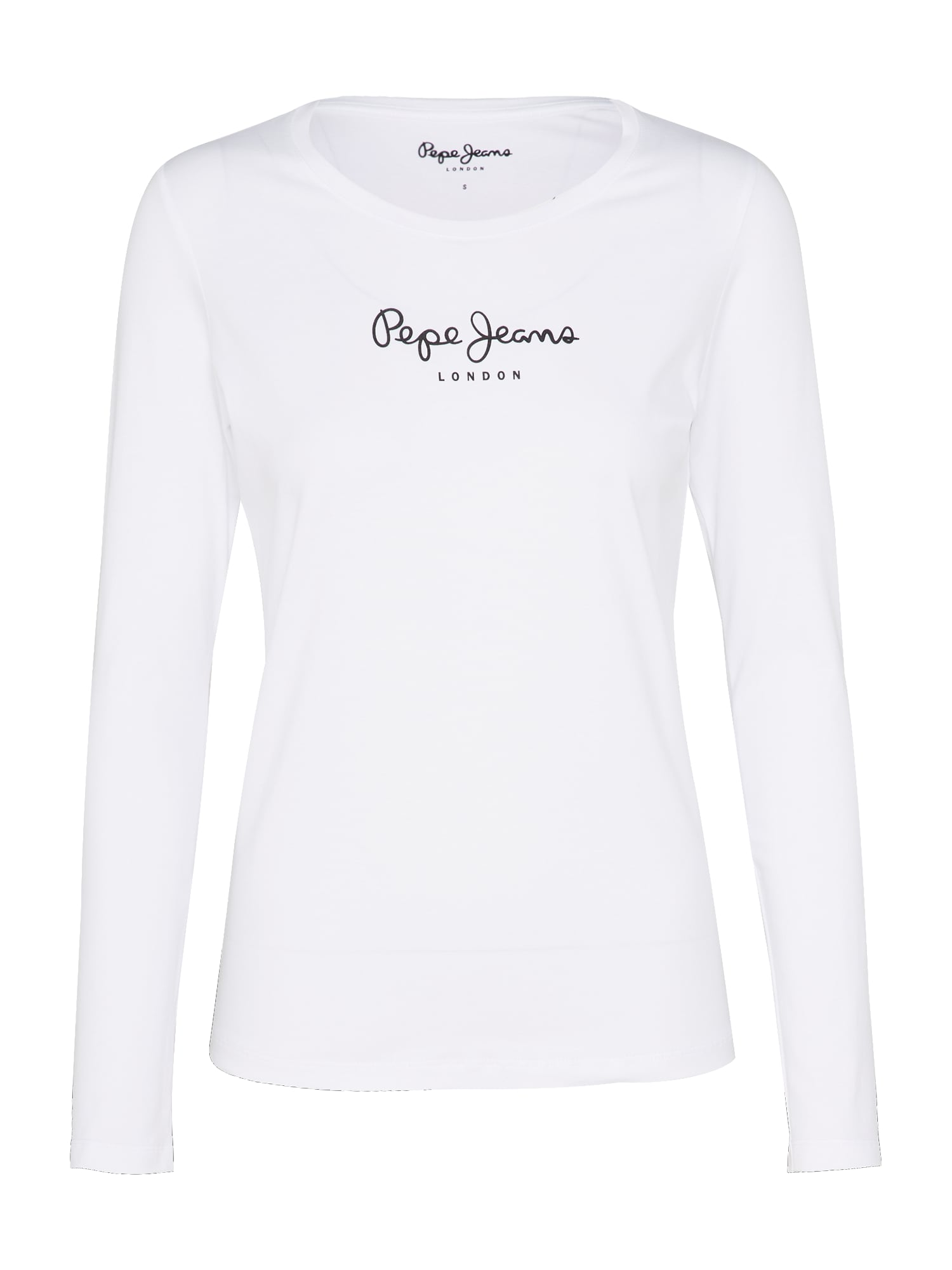Tričko NEW VIRGINIA LS bílá Pepe Jeans