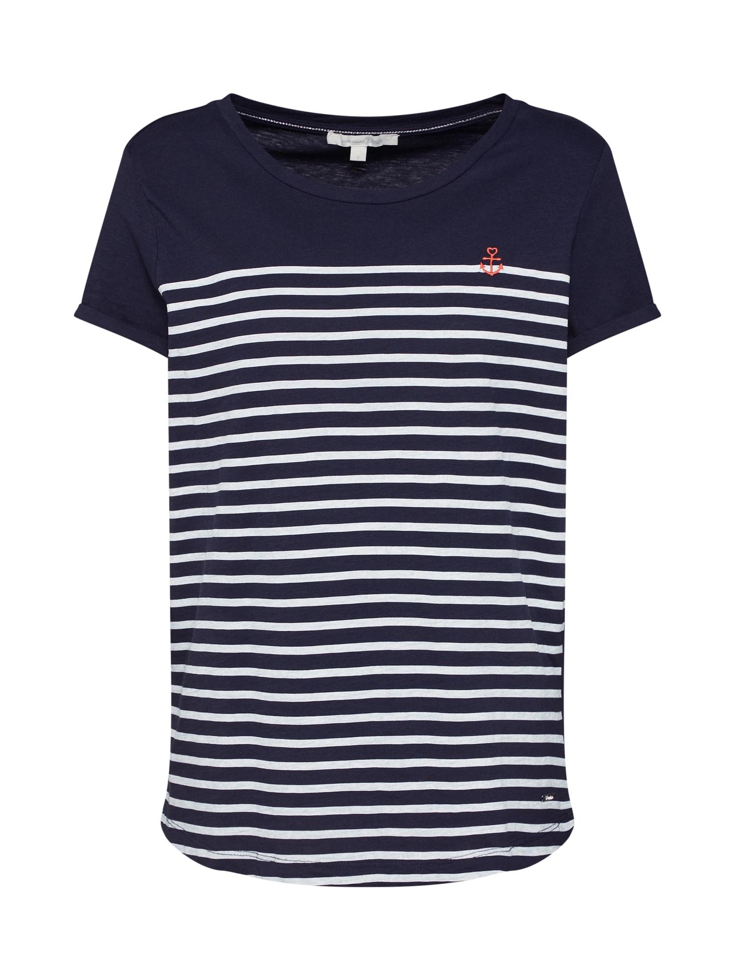 Tričko tmavě modrá červená bílá TOM TAILOR DENIM