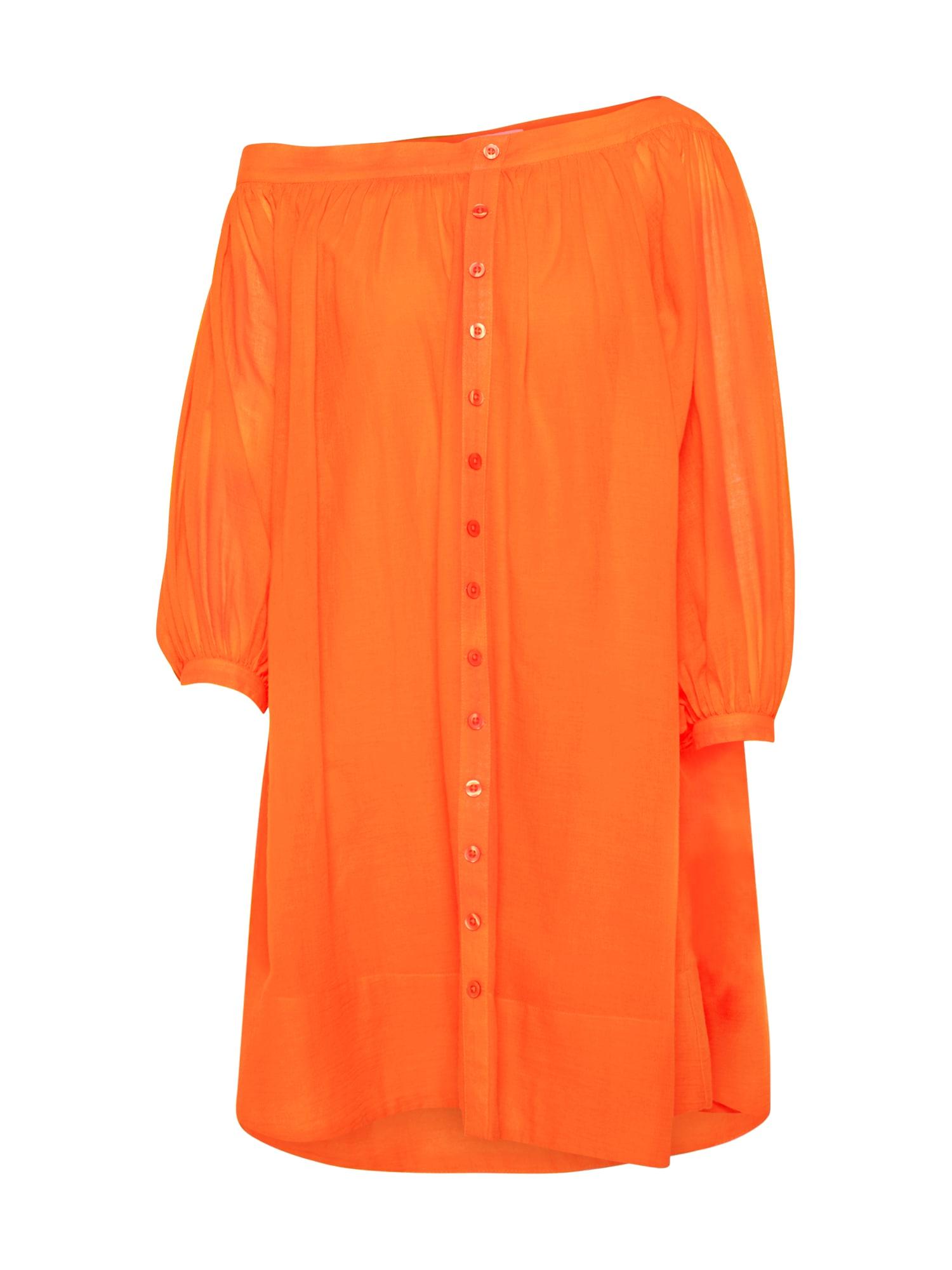 Letní šaty Neele oranžová EDITED