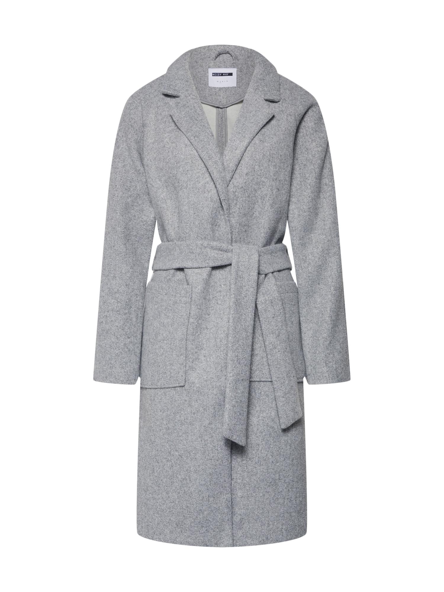 Přechodný kabát Zoe Spring šedý melír Noisy May