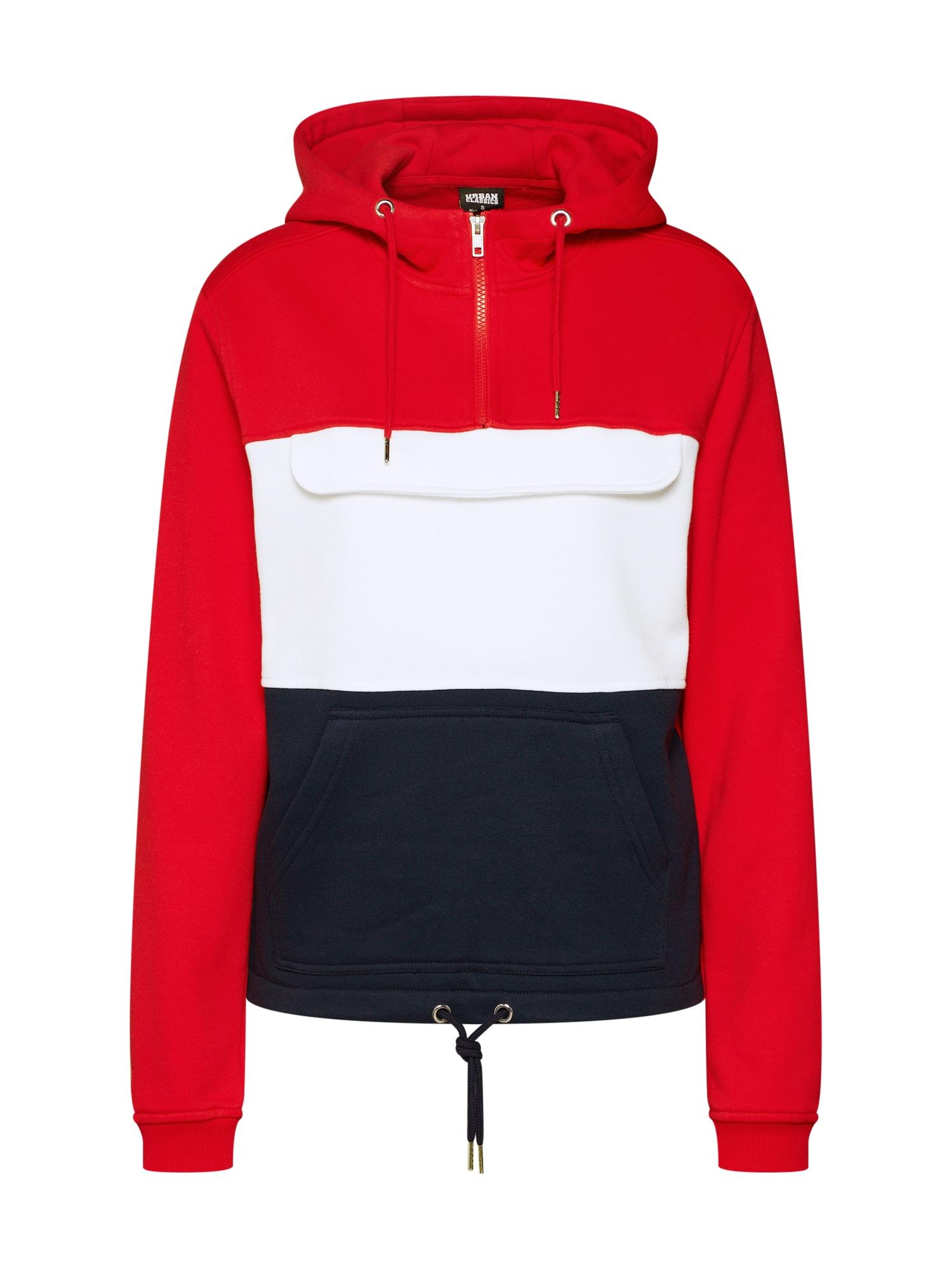 Mikina námořnická modř červená bílá Urban Classics