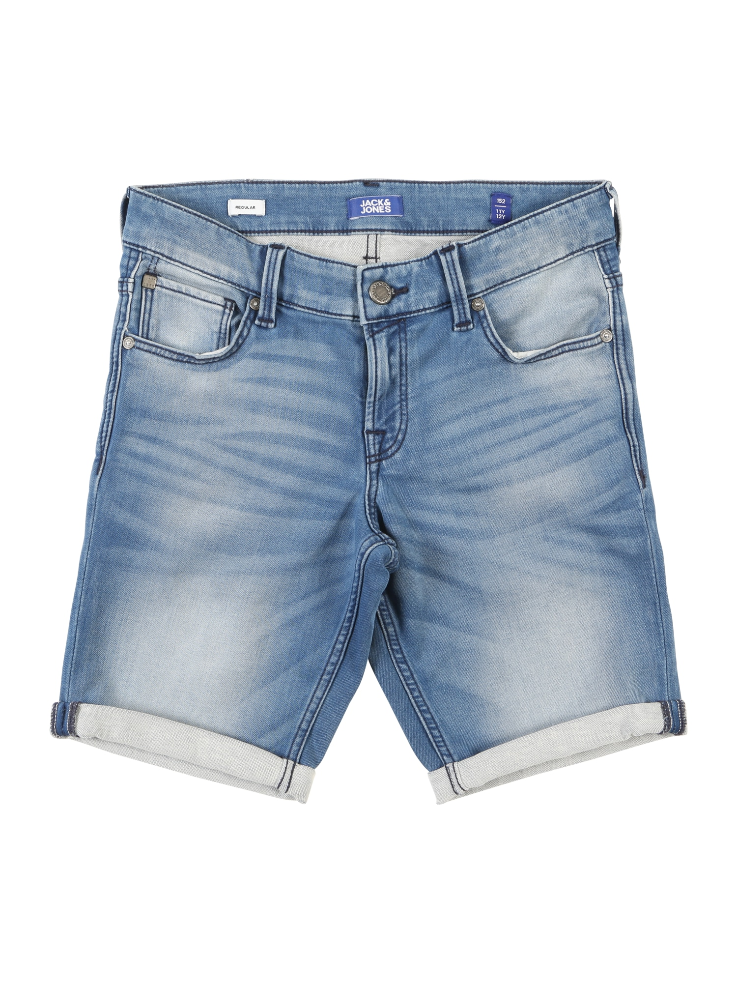 Džíny JJIRICK JJICON SHORTS GE 851 I.K. JR modrá Jack & Jones Junior