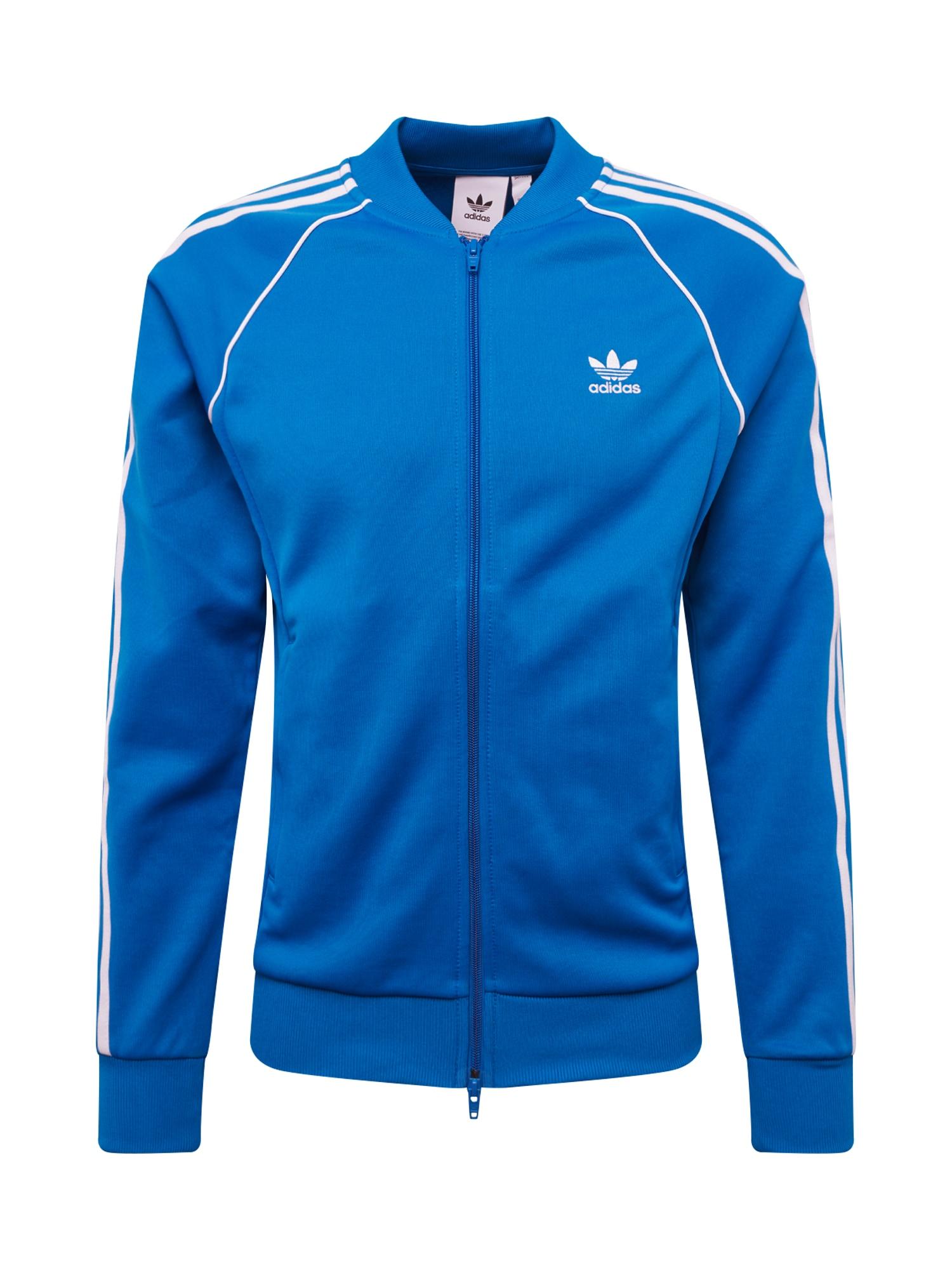 Mikina s kapucí SST TT modrá ADIDAS ORIGINALS