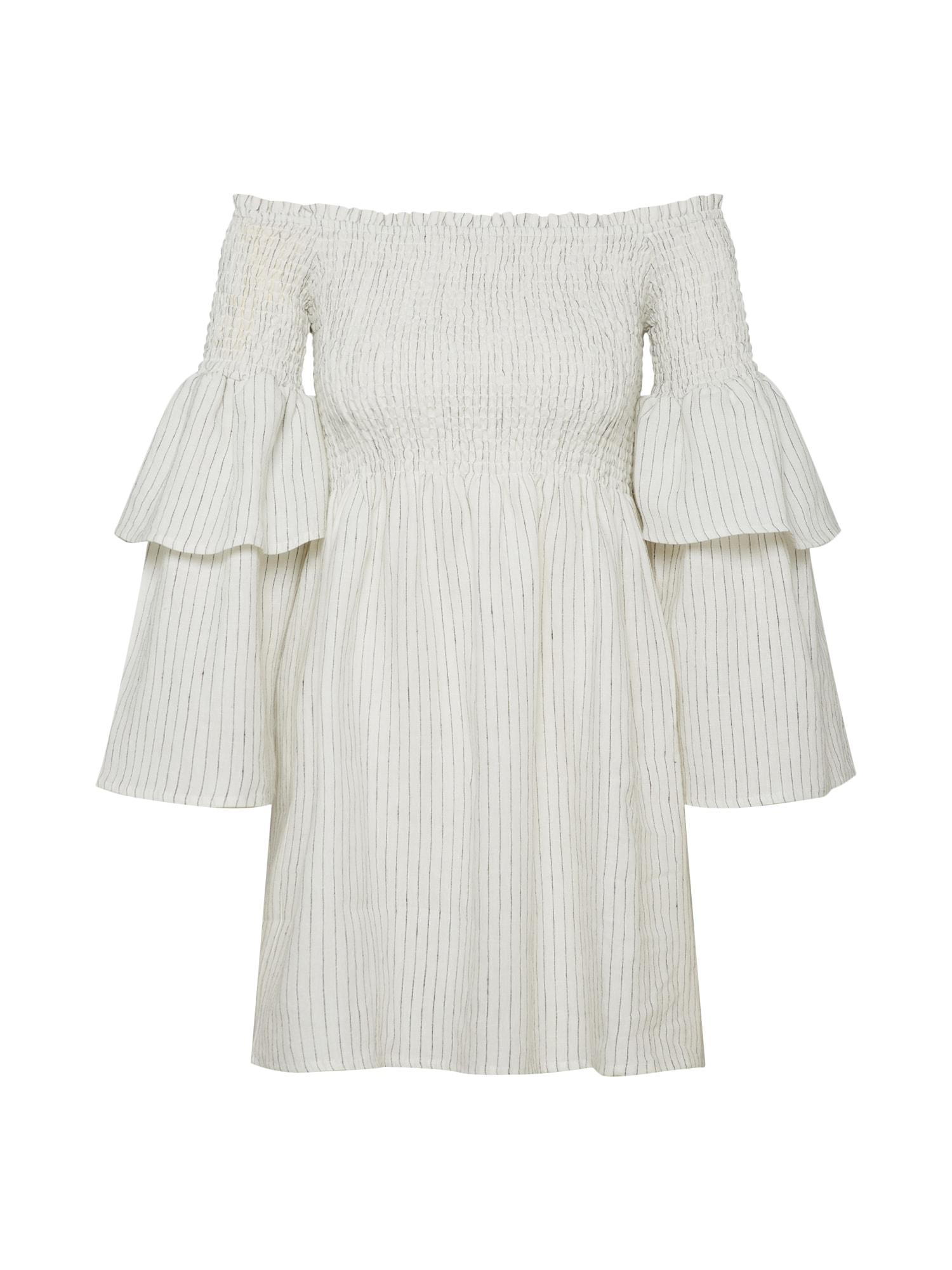 Šaty šedá bílá Bardot