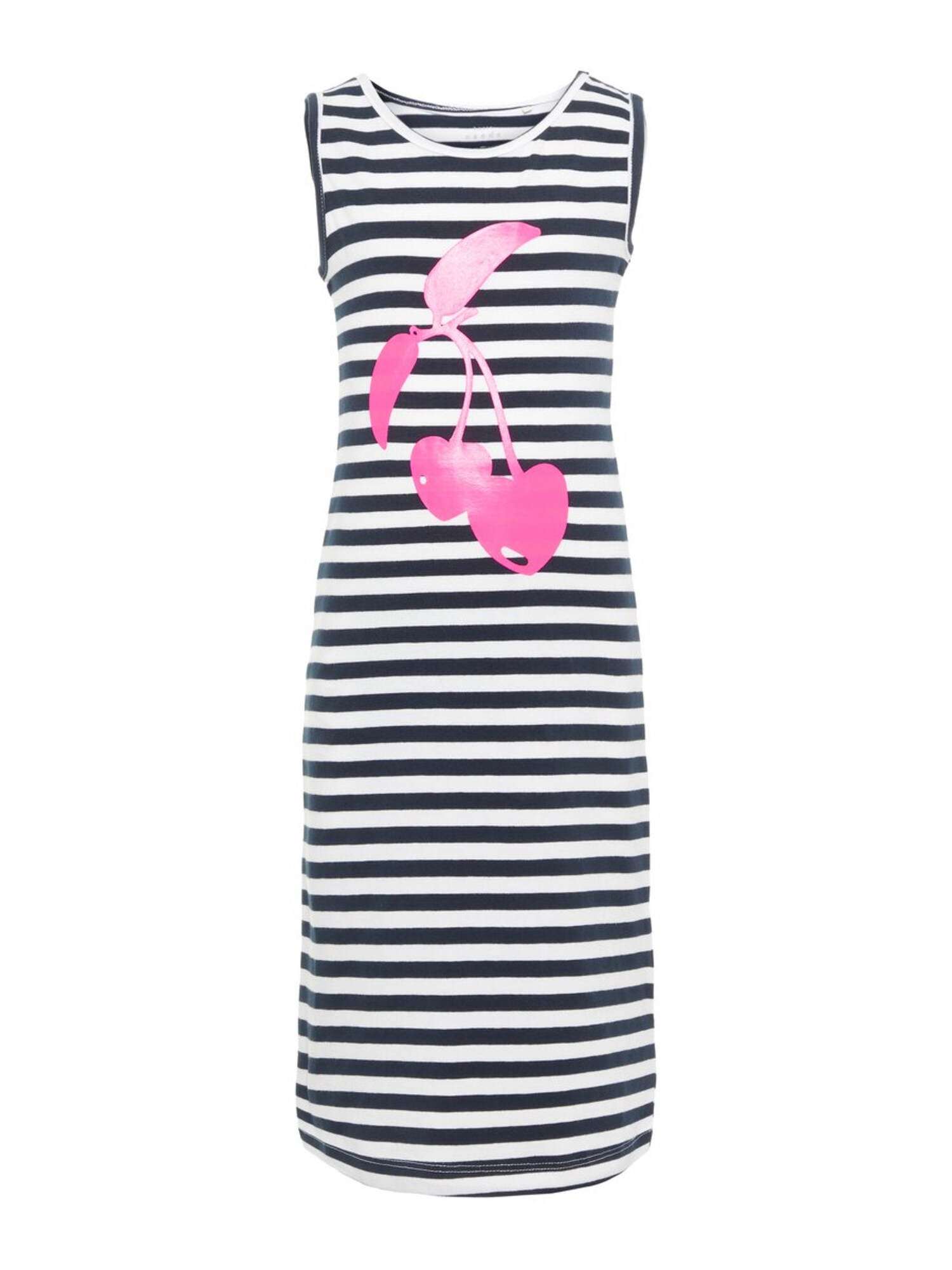 Šaty NKFVIPPA SL MAXI DRESS NOOS kobaltová modř pink bílá NAME IT