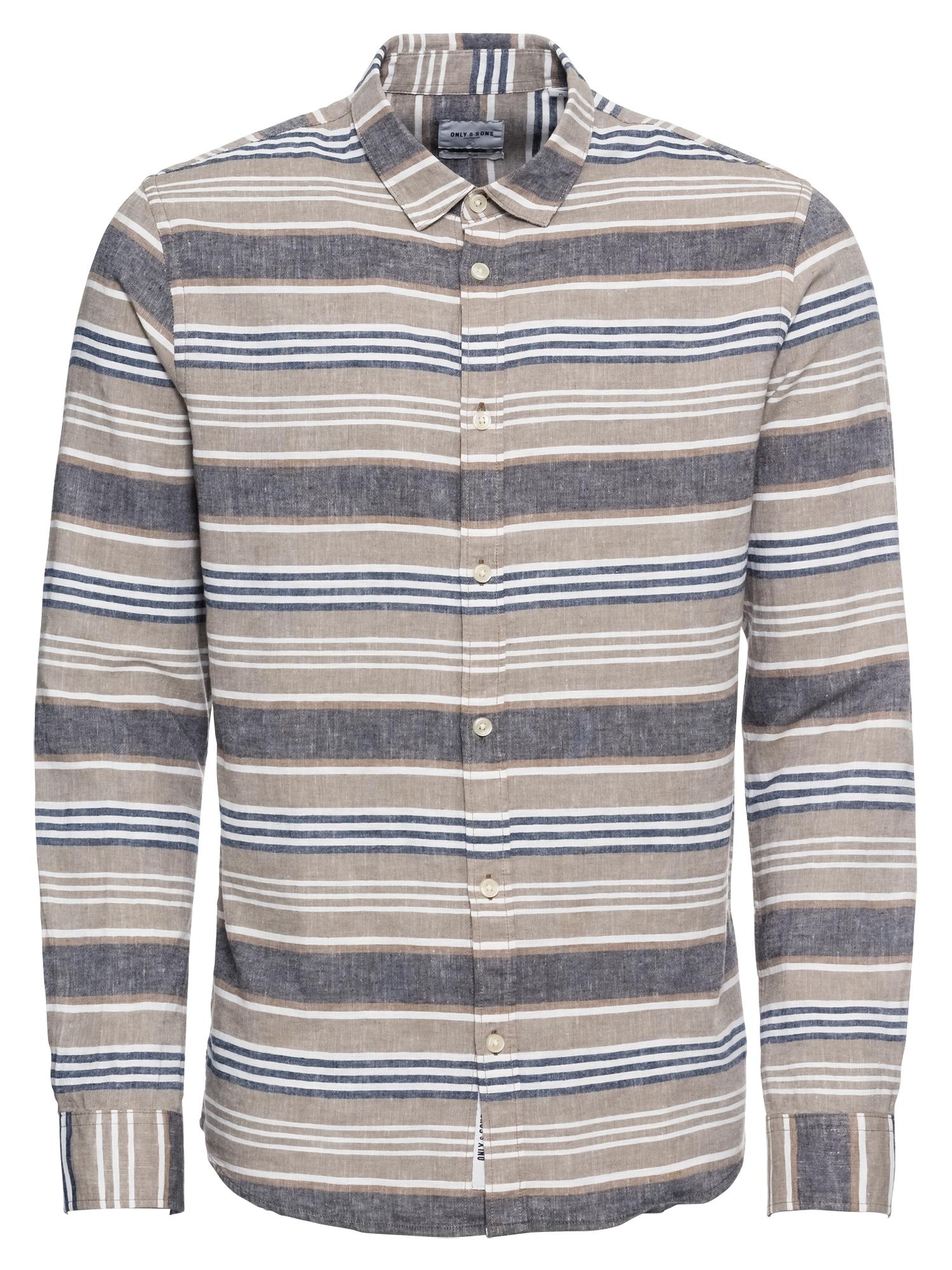 Košile CAIDEN tmavě šedá mix barev Only & Sons