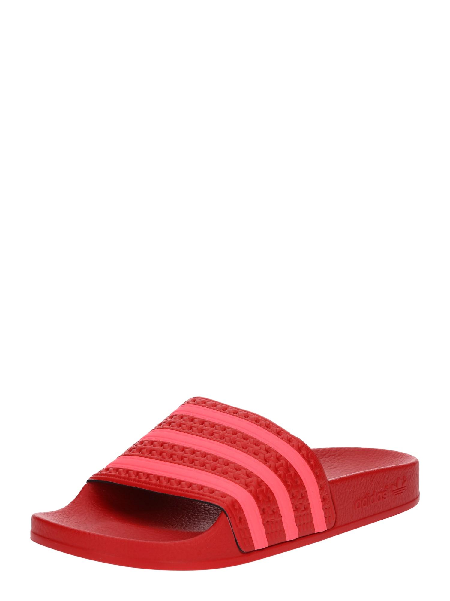 Pantofle světle červená tmavě červená ADIDAS ORIGINALS