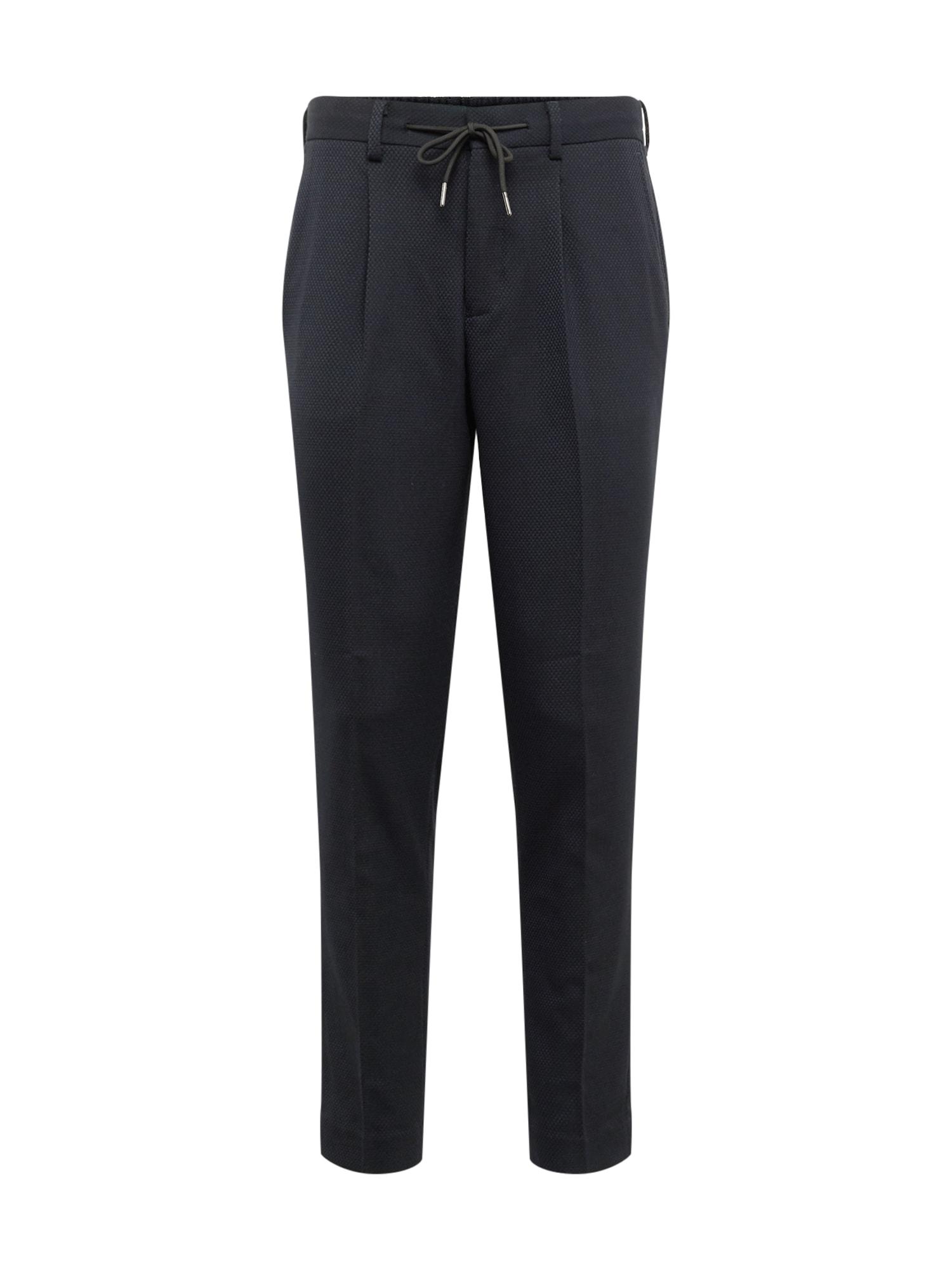 Kalhoty SLHTAPERED-LEO PANTS B námořnická modř SELECTED HOMME