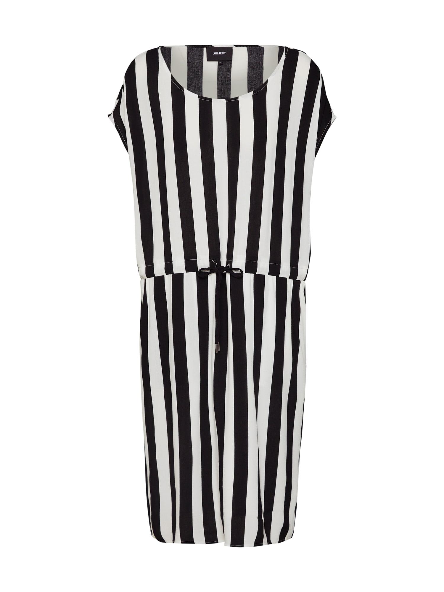 Letní šaty OBJBAY DALLAS černá bílá OBJECT