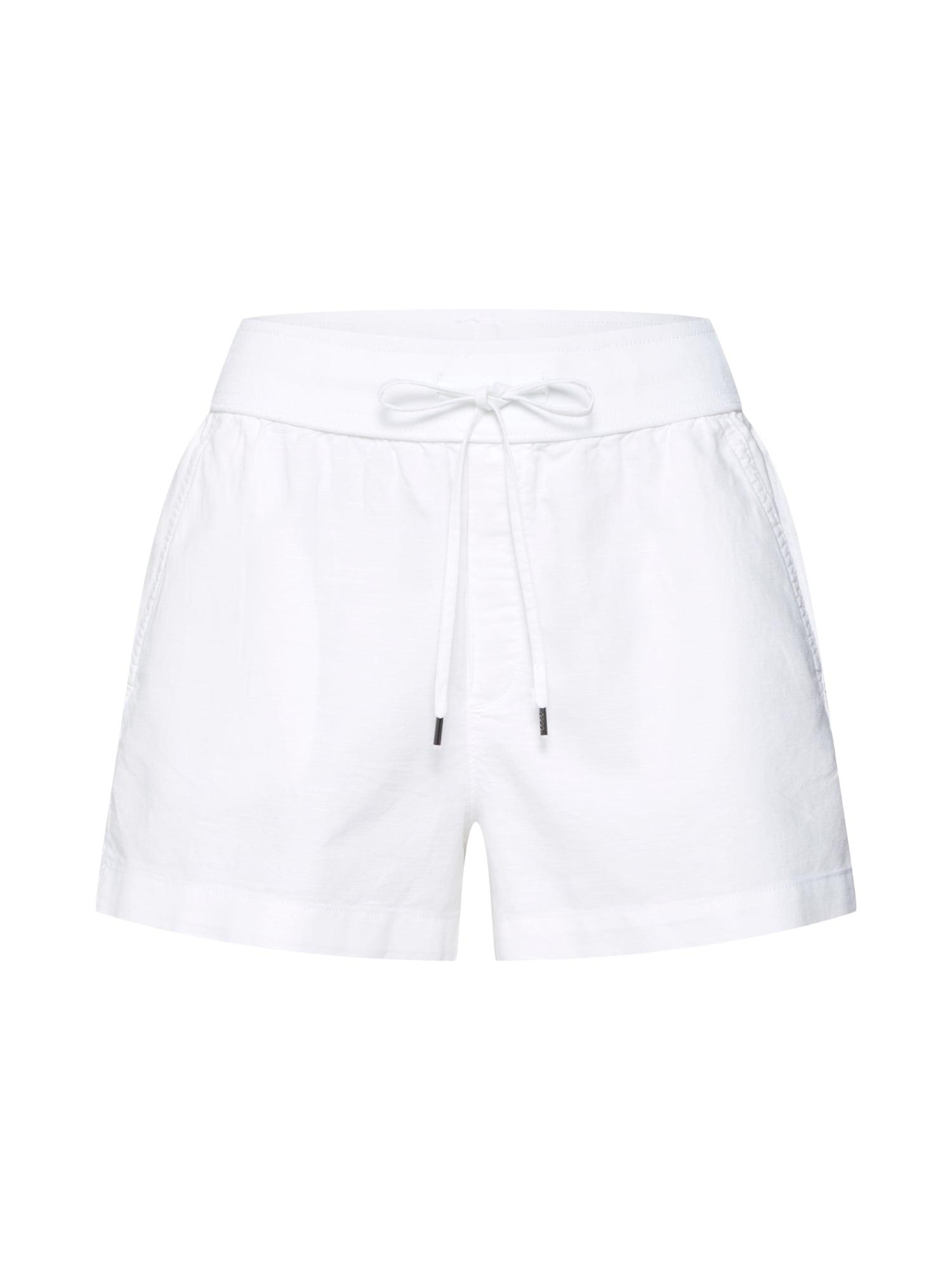 Kalhoty LINEN PULL ON SHORT bílá GAP