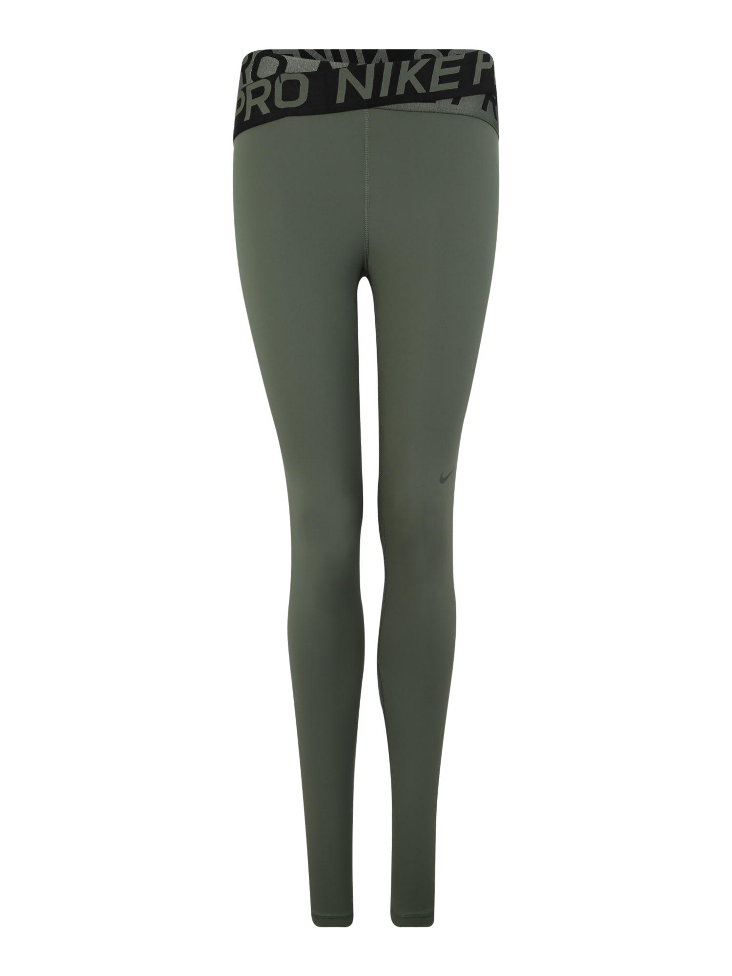 Sportovní kalhoty tmavě zelená NIKE