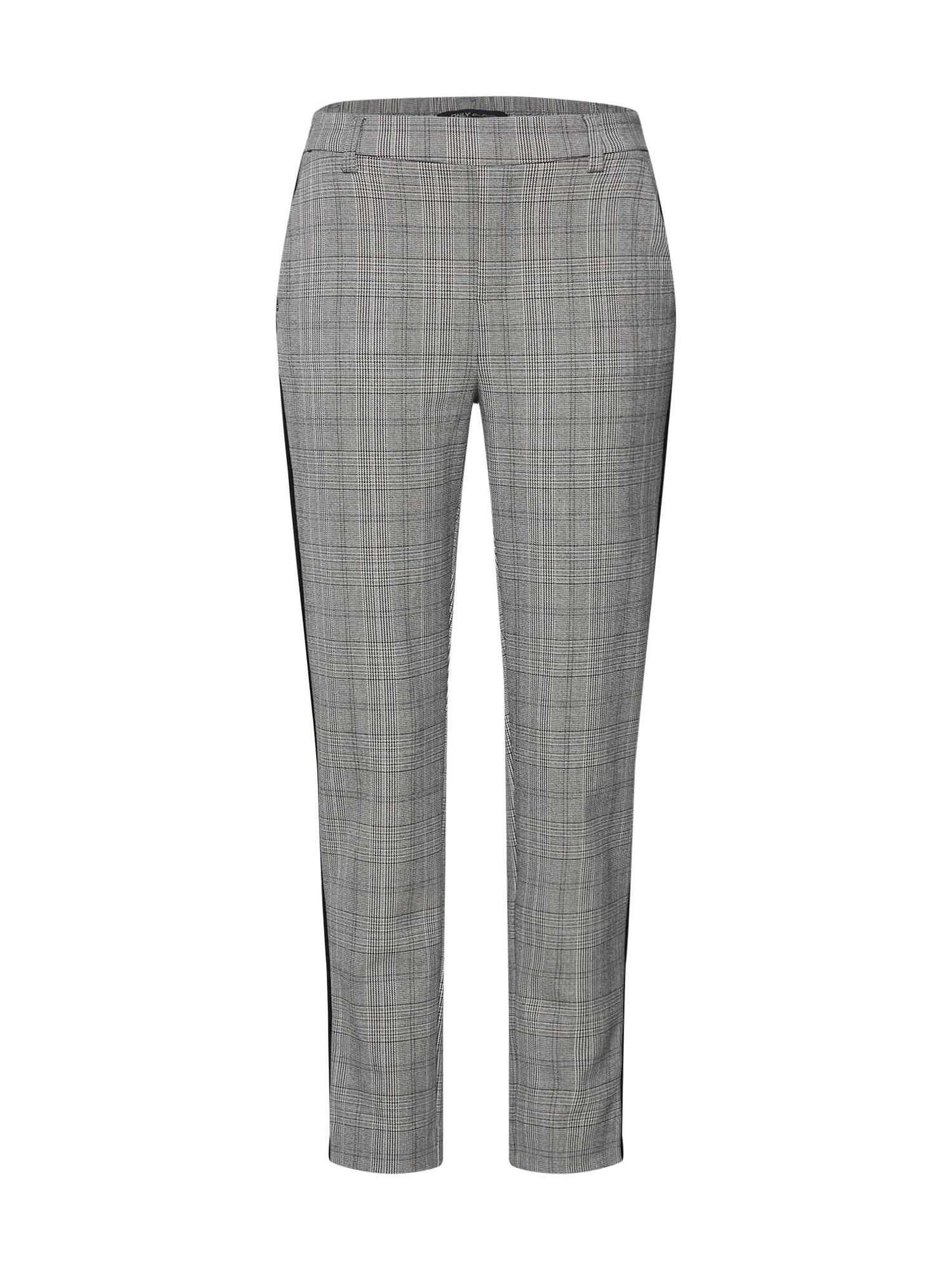 Chino kalhoty šedá černá ONLY