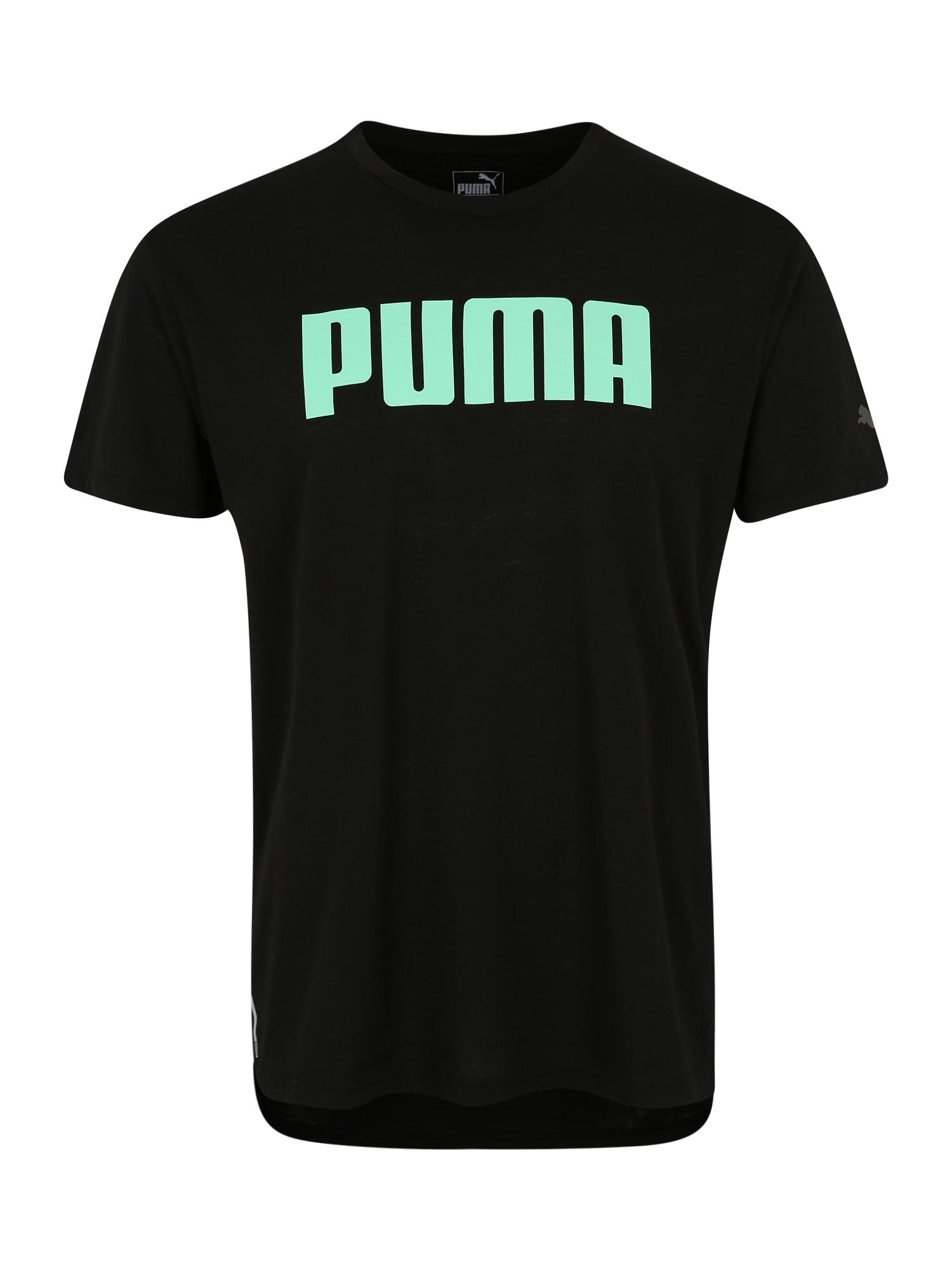 PUMA Funkčné tričko 'PUMA SS Graphic Tee'  čierna