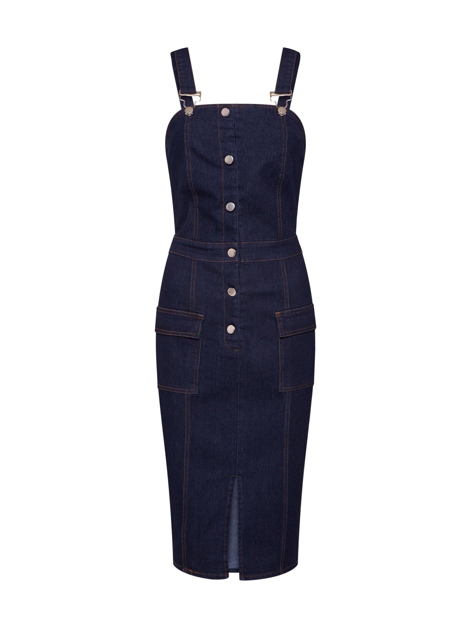 Šaty modrá džínovina Missguided