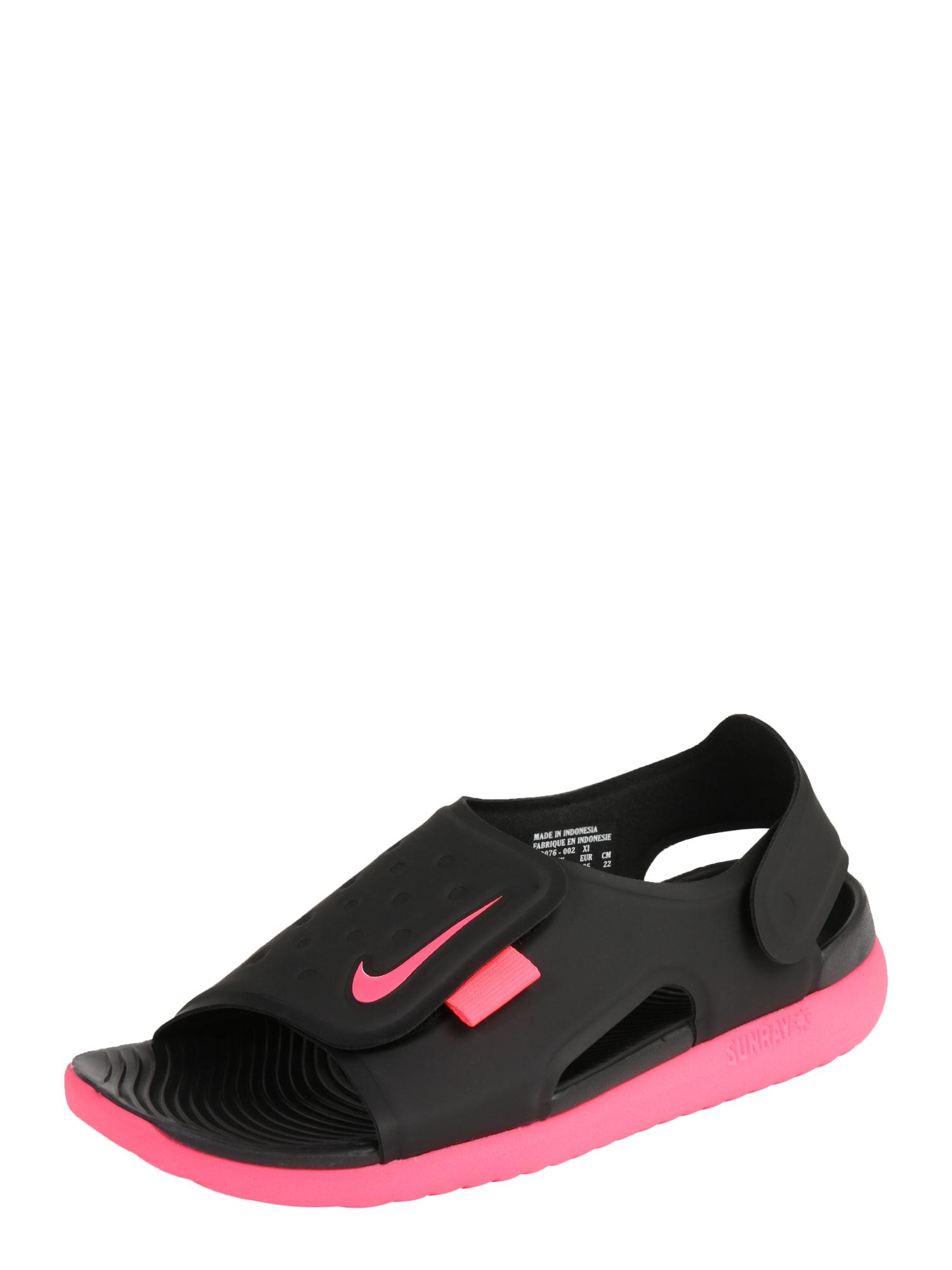 Nike Sportswear, Jongens Open schoenen 'Nike Sunray Adjust 5', zwart