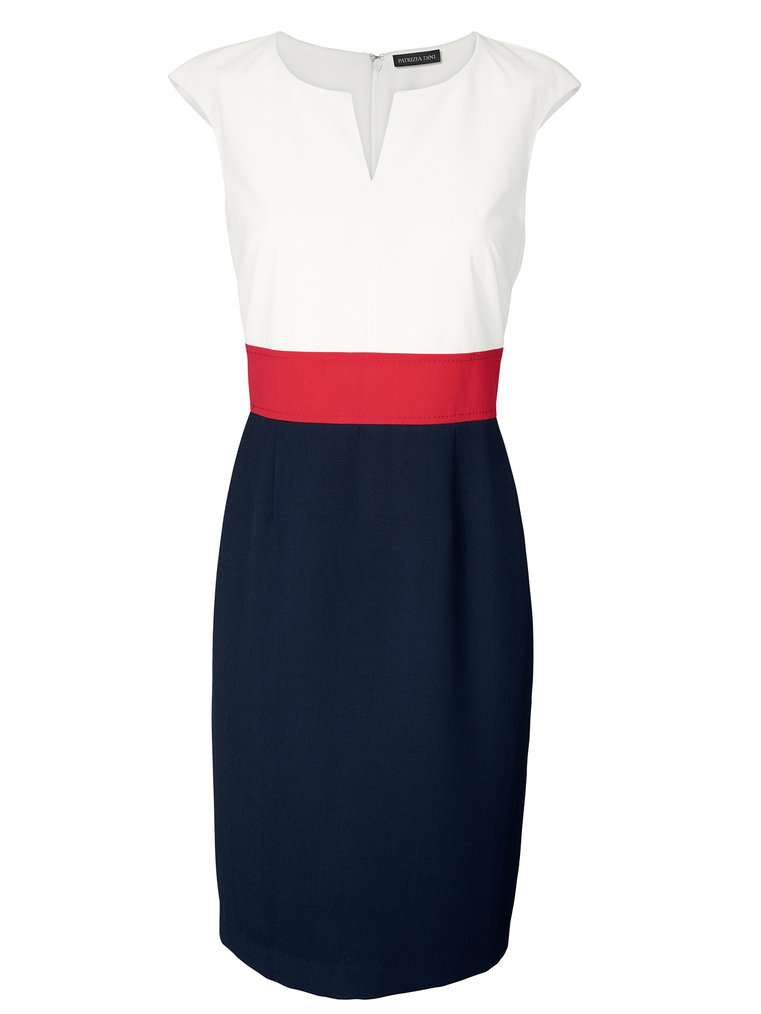 Pouzdrové šaty marine modrá červená offwhite Heine