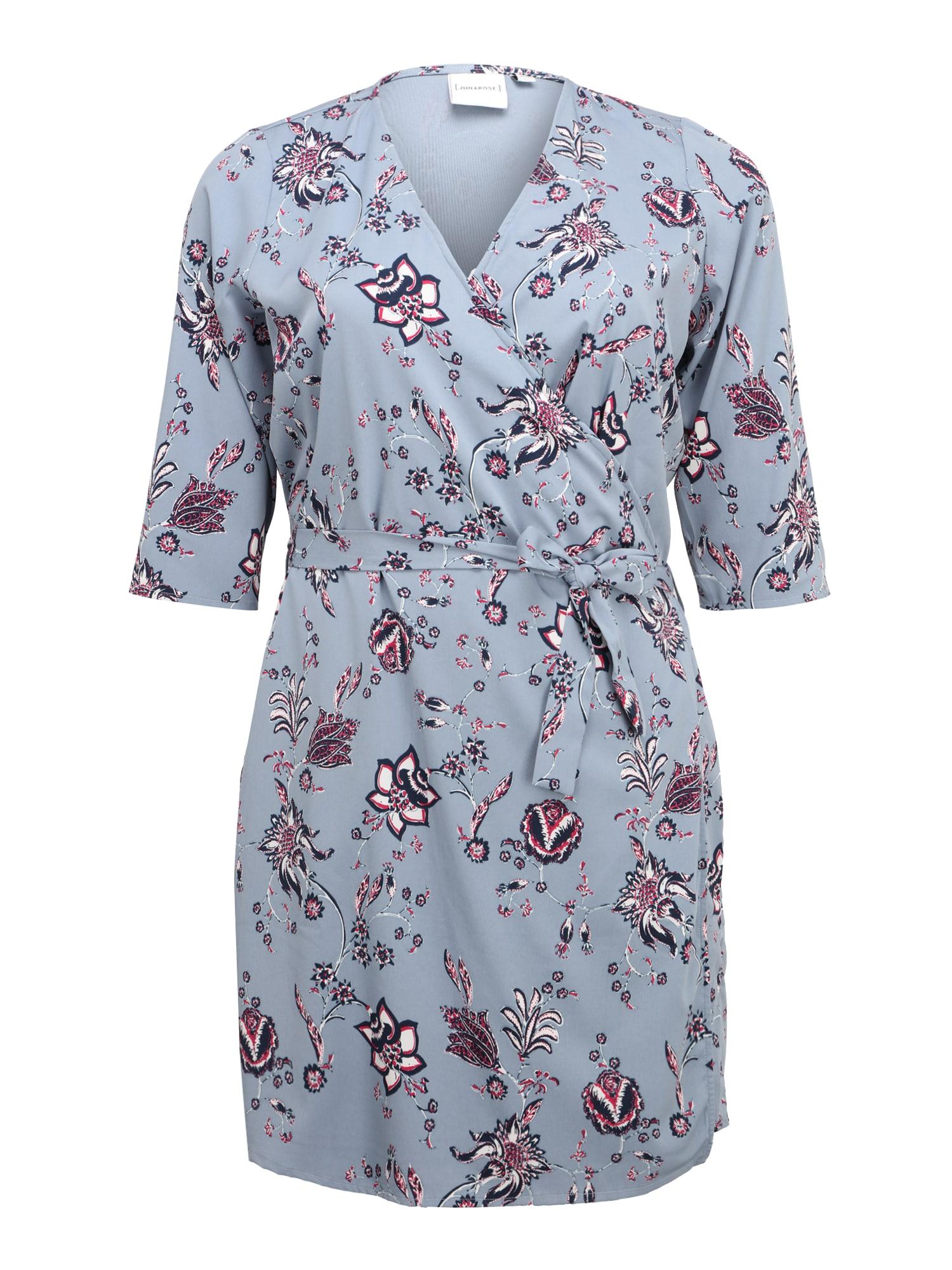 Letní šaty MAYA chladná modrá pink černá Junarose