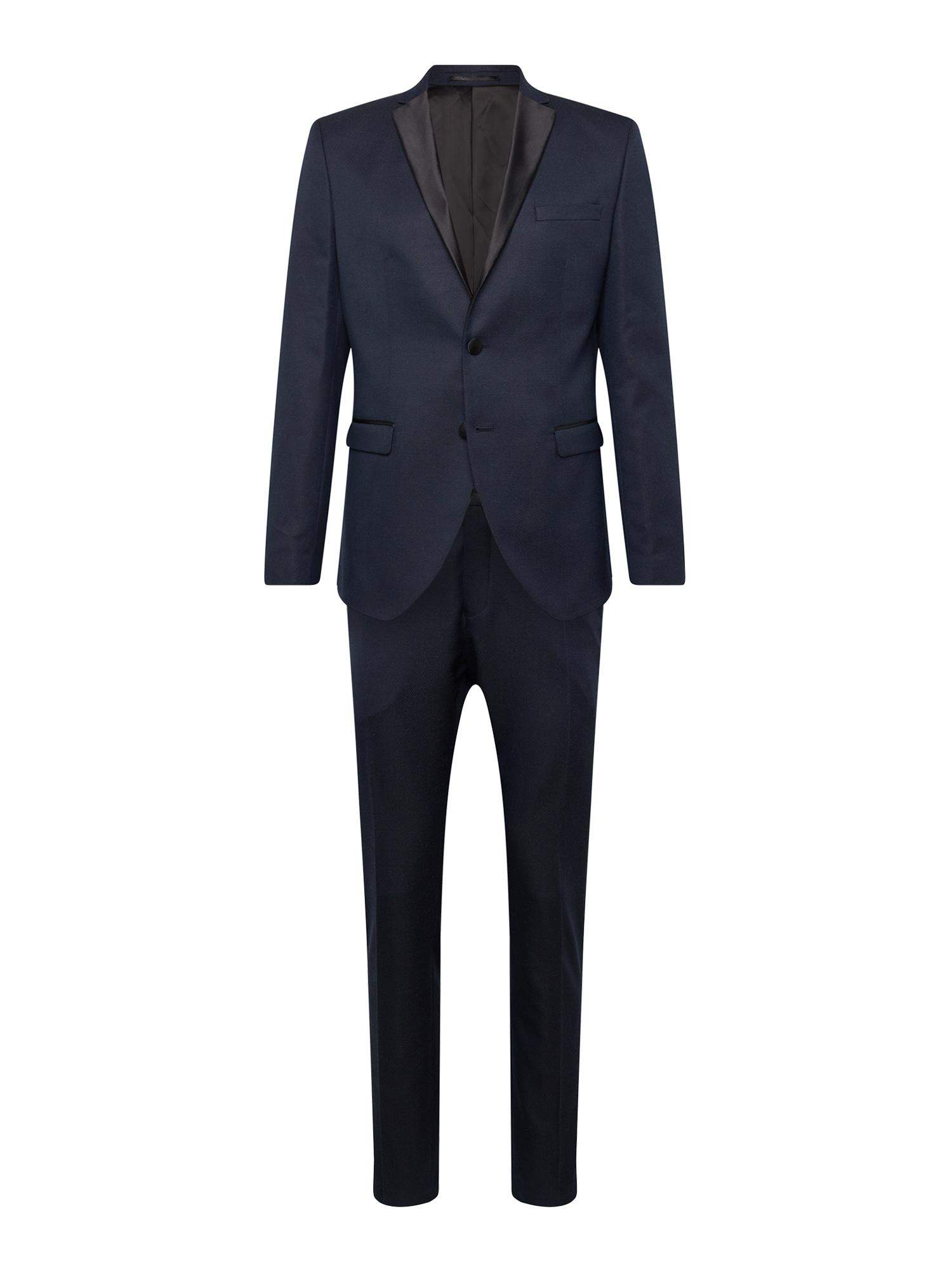 Oblek SLHSLIM-RYANLOGAN NAVY STRUC TUX SUIT B námořnická modř SELECTED HOMME