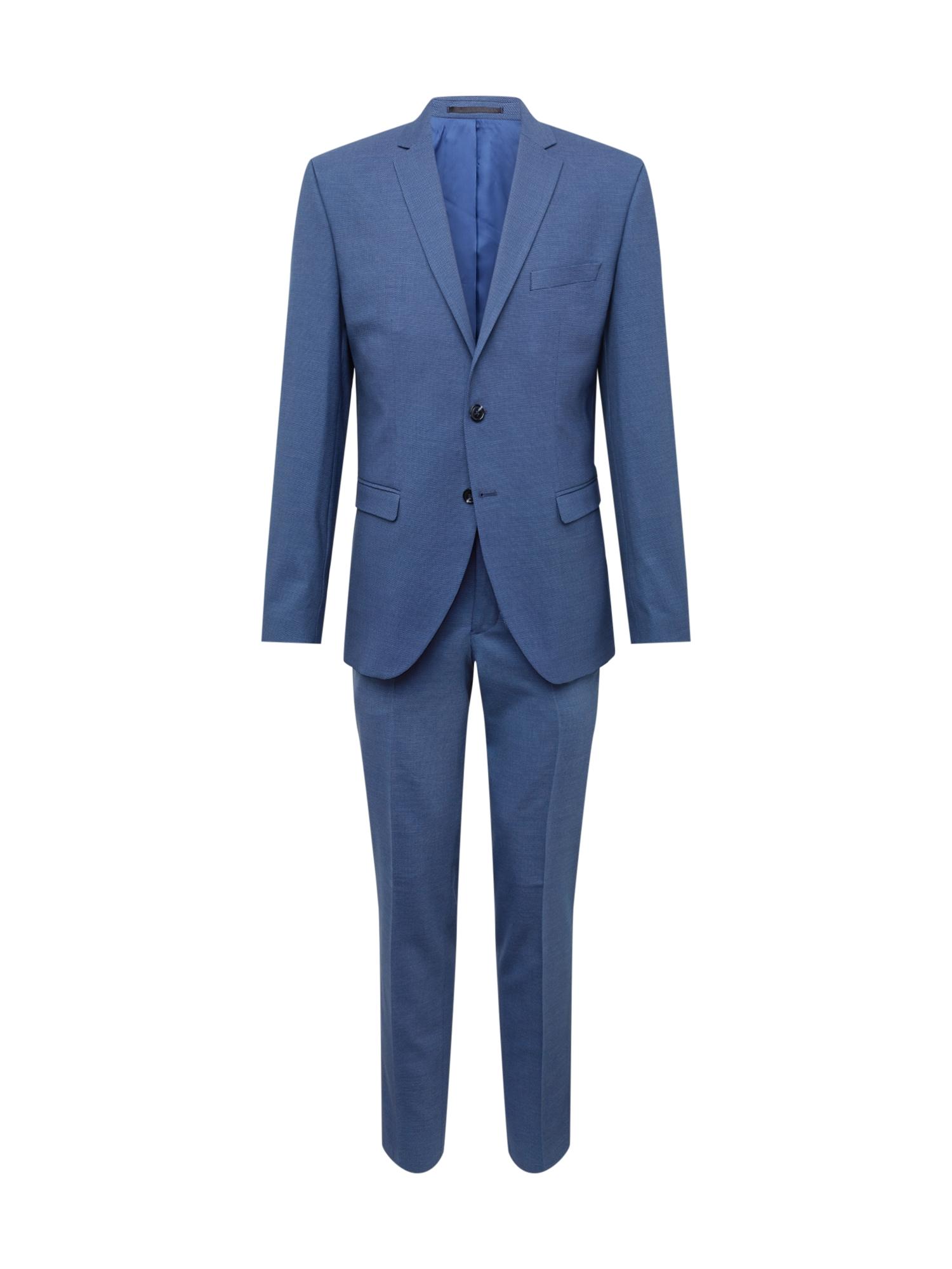 Oblek SLIM-MYLOLOGAN BLUE STRUC SUIT B tmavě modrá SELECTED HOMME