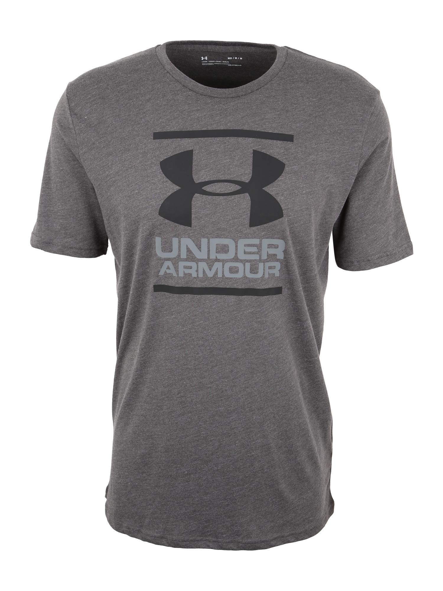 UNDER ARMOUR Funkční tričko 'Foundation'  tmavě šedá / režná