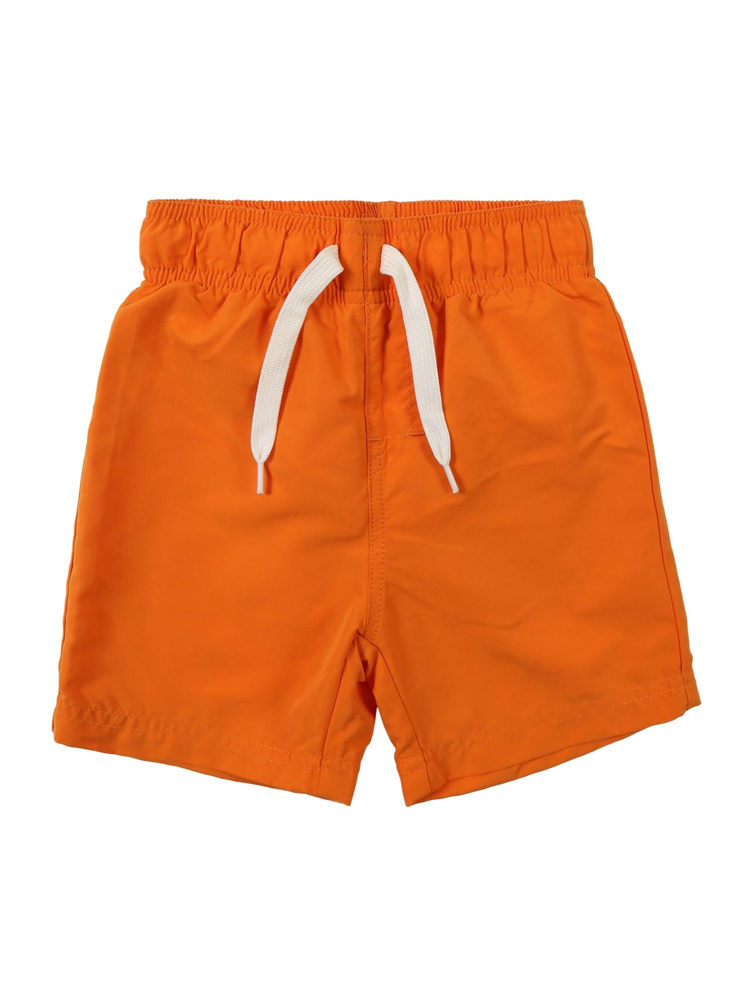 Plavecké šortky ZAKU  mandarinkoná  bílá NAME IT