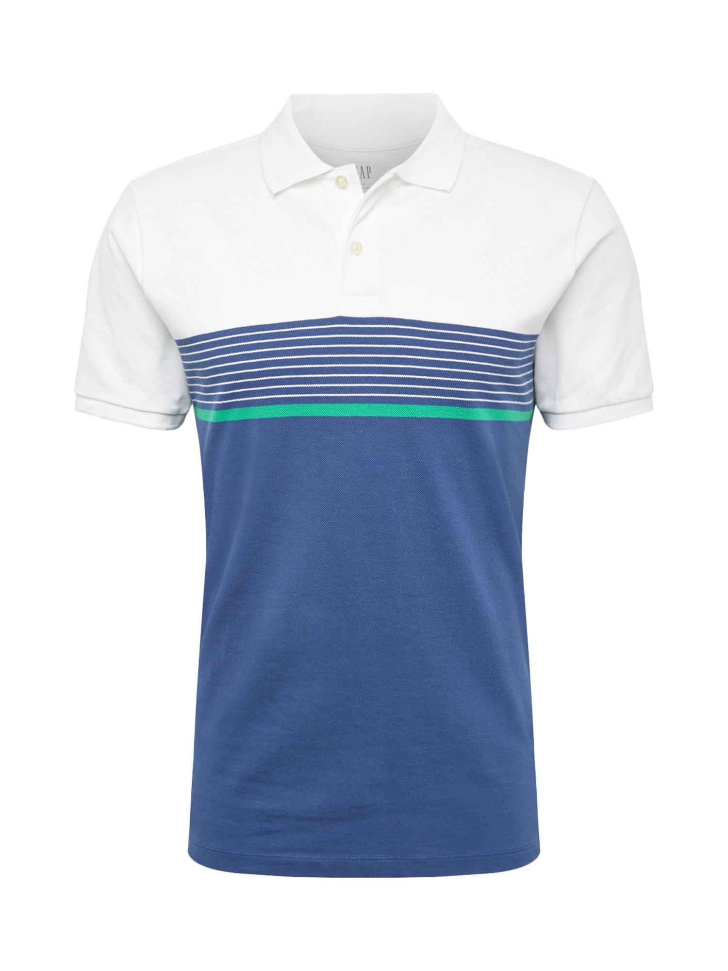 Tričko modrá zelená bílá GAP
