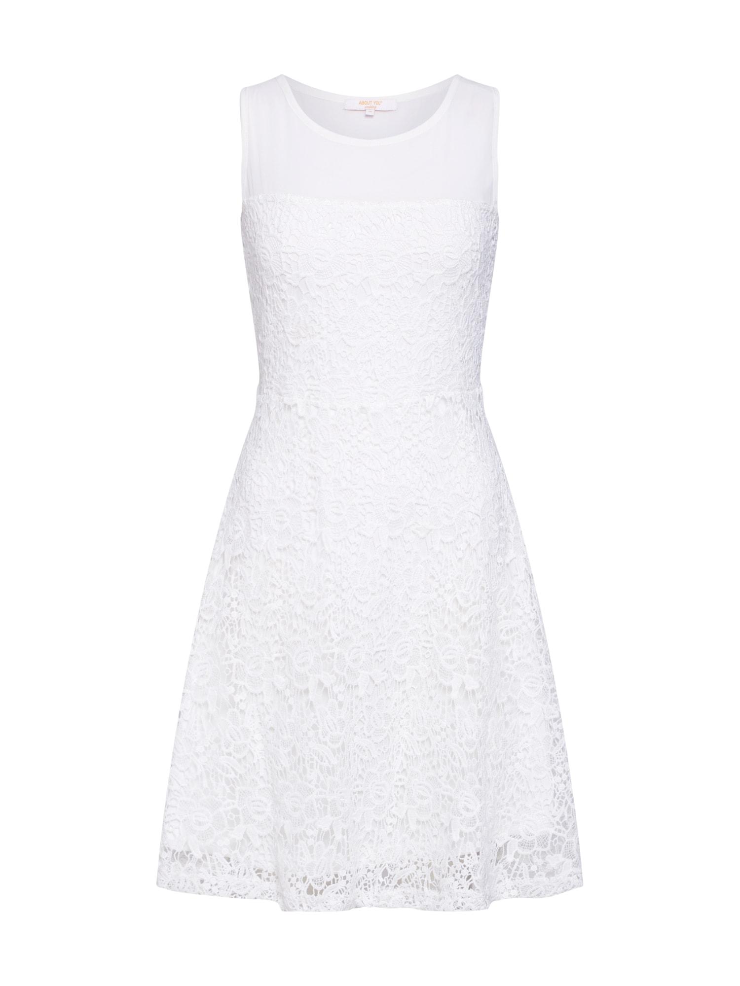 Koktejlové šaty Lotti bílá ABOUT YOU
