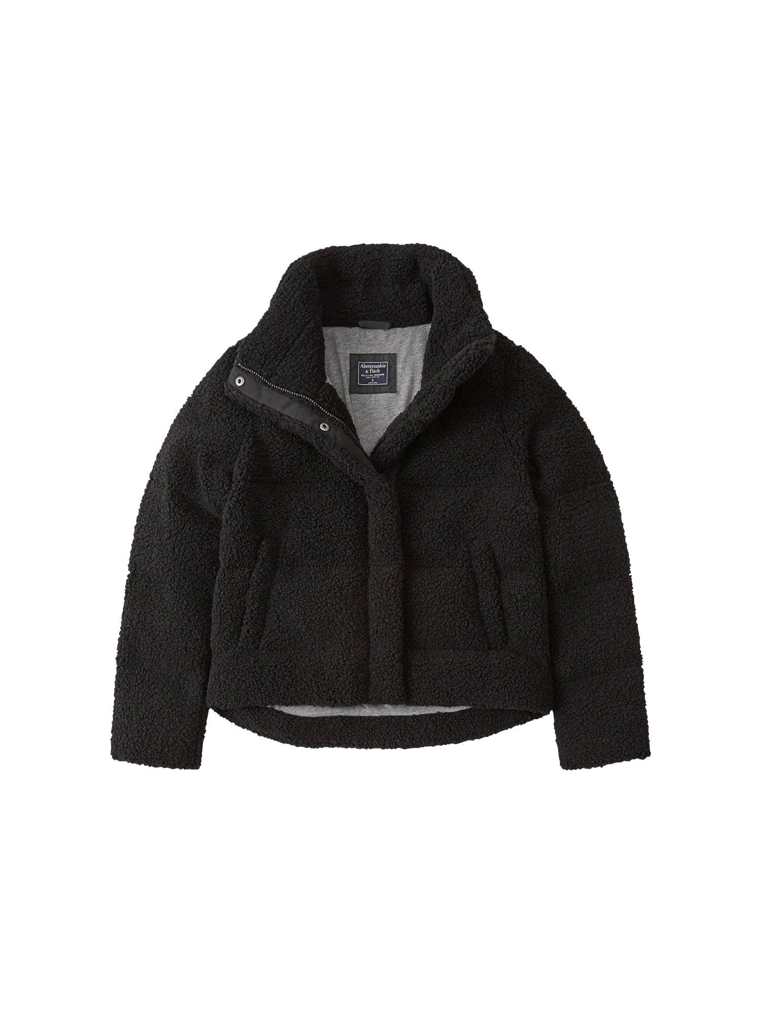 Zimní bunda BTS18-ELEVATED FASHION PUFFER černá Abercrombie & Fitch