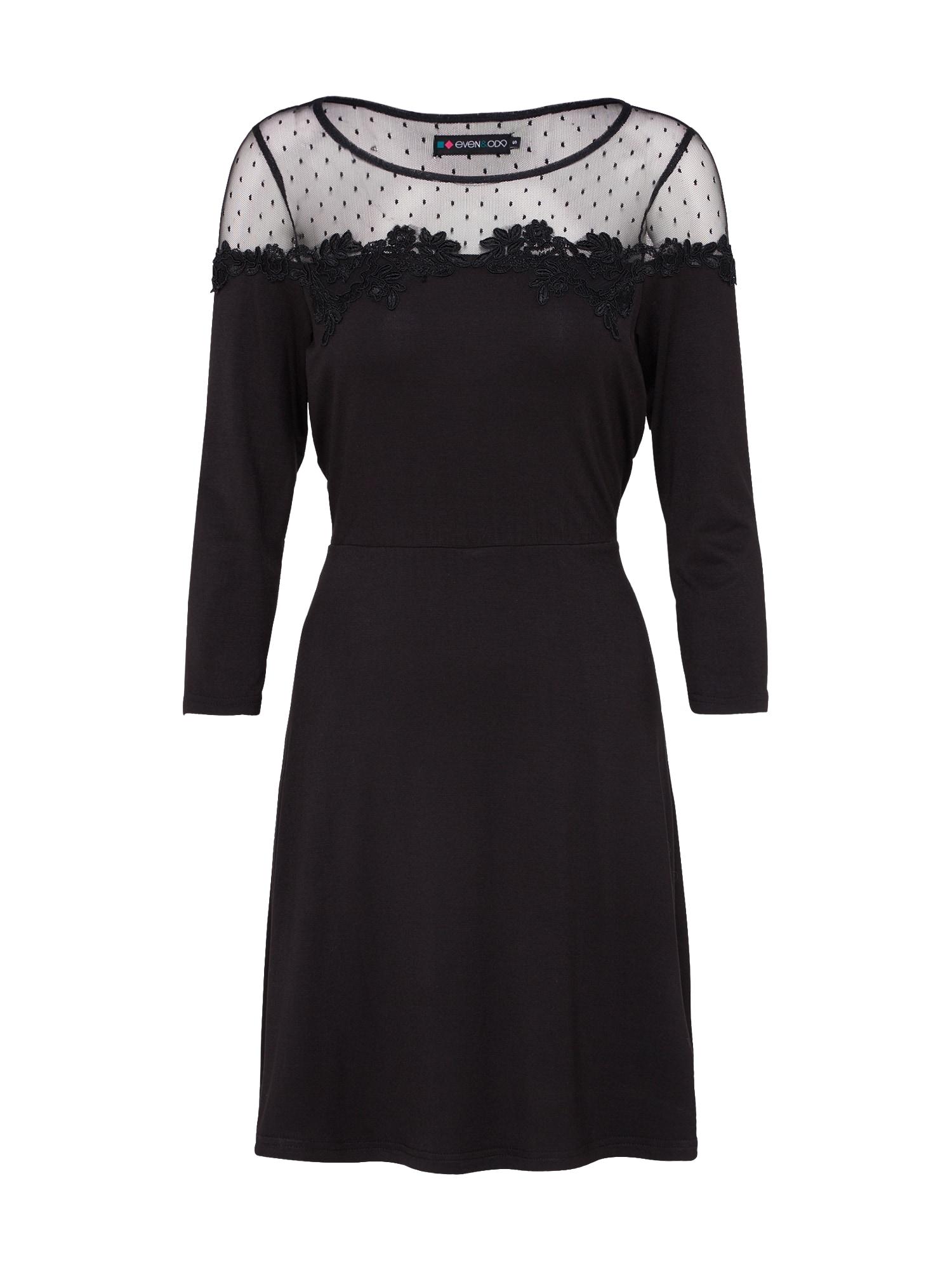 Koktejlové šaty černá Even&odd