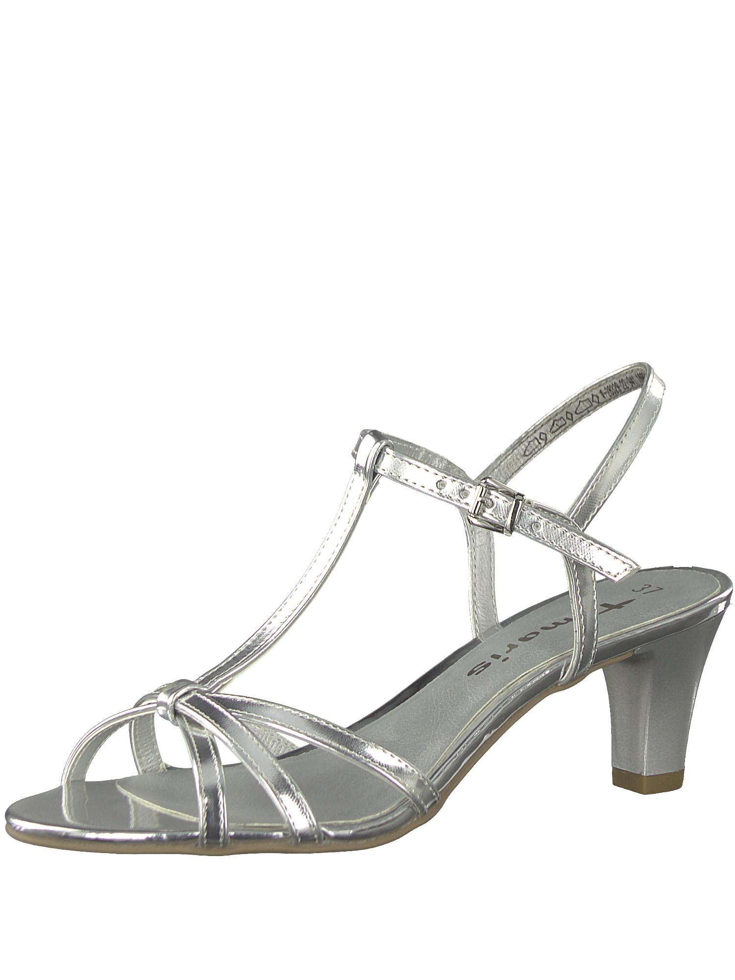 Páskové sandály stříbrná TAMARIS