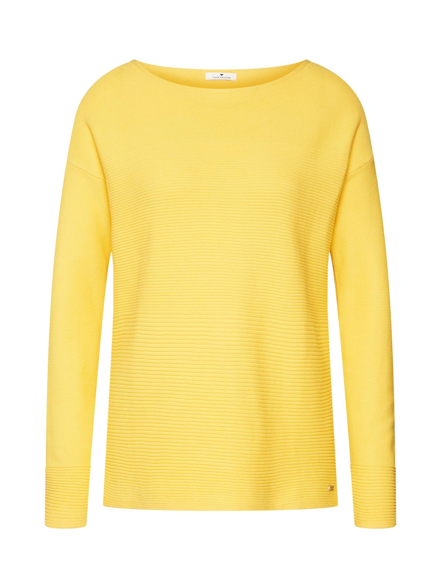 TOM TAILOR, Dames Sweatshirt, geel