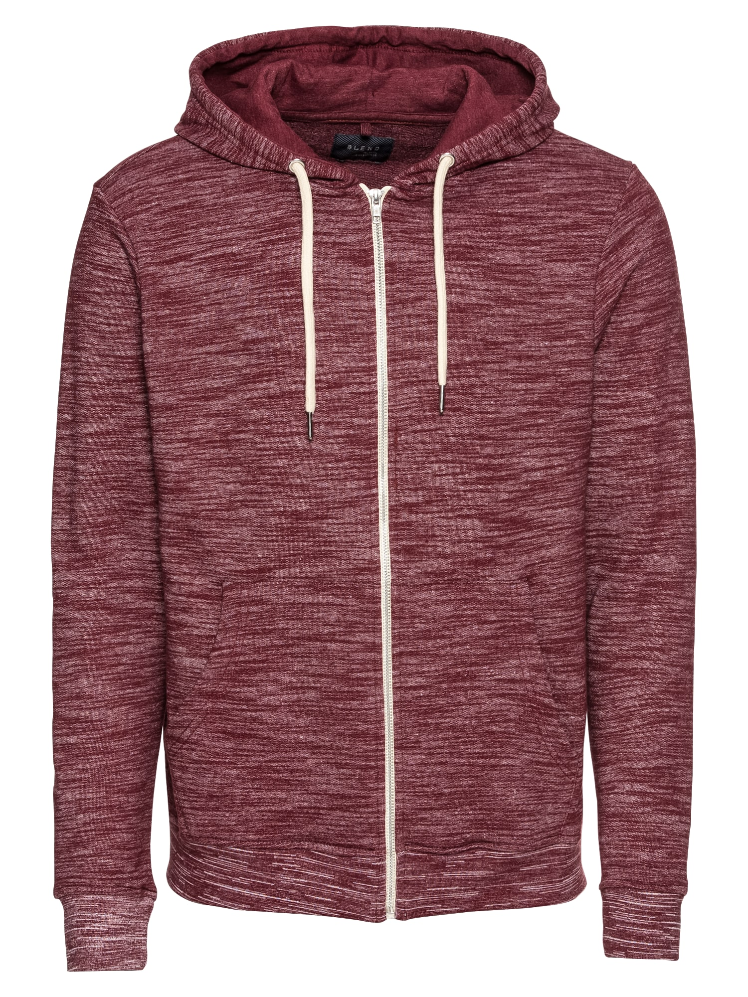 Mikina s kapucí Sweatshirt - NOOS Meliert bordó BLEND
