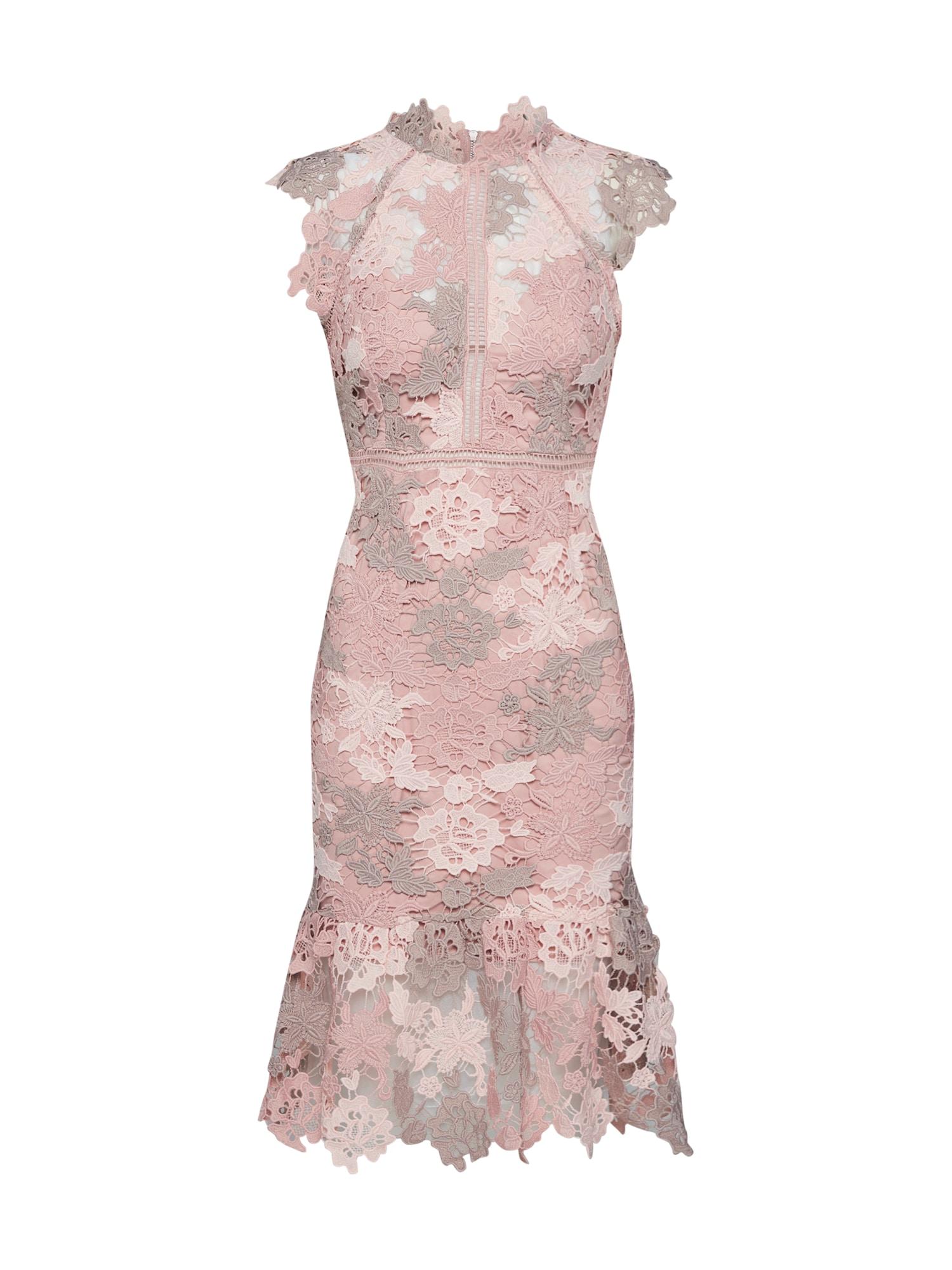 Koktejlové šaty DANI LACE DRESS růžová Bardot