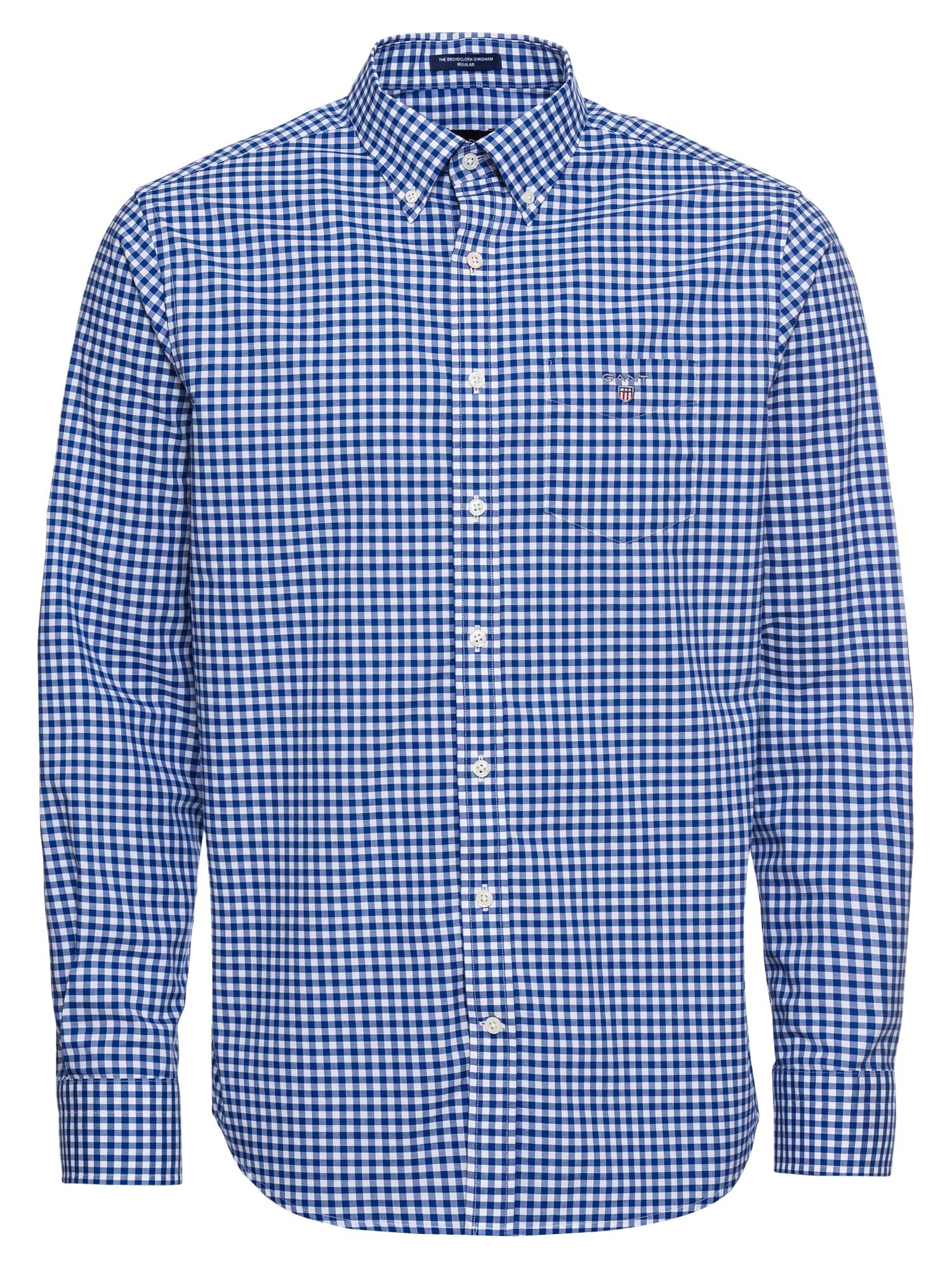 Košile THE BROADCLOTH modrá bílá GANT