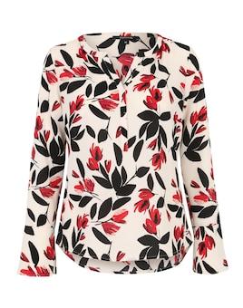COMMA Langärmelige Bluse mit floralem Print Sale Angebote Lieskau