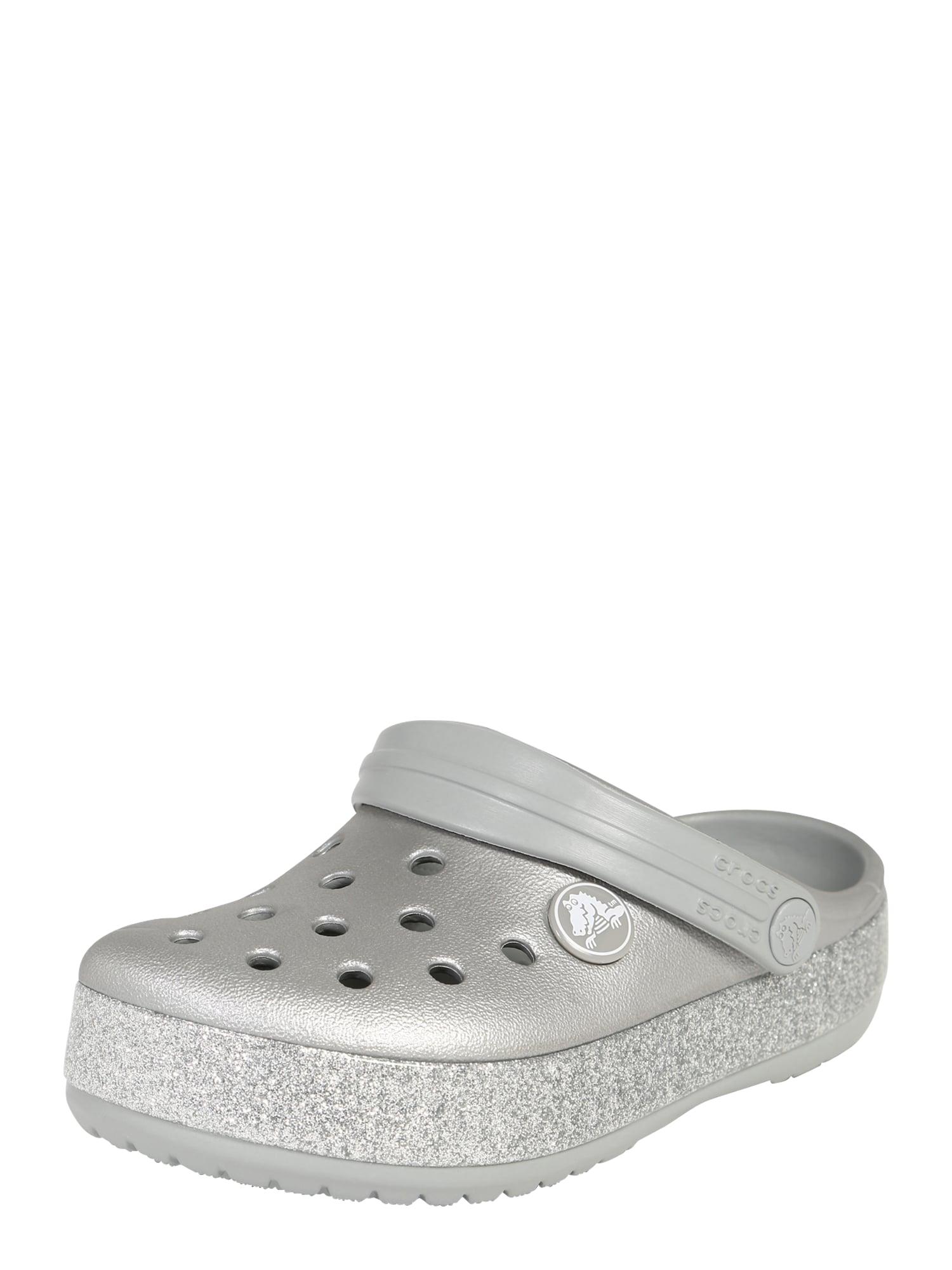 Otevřená obuv stříbrně šedá Crocs