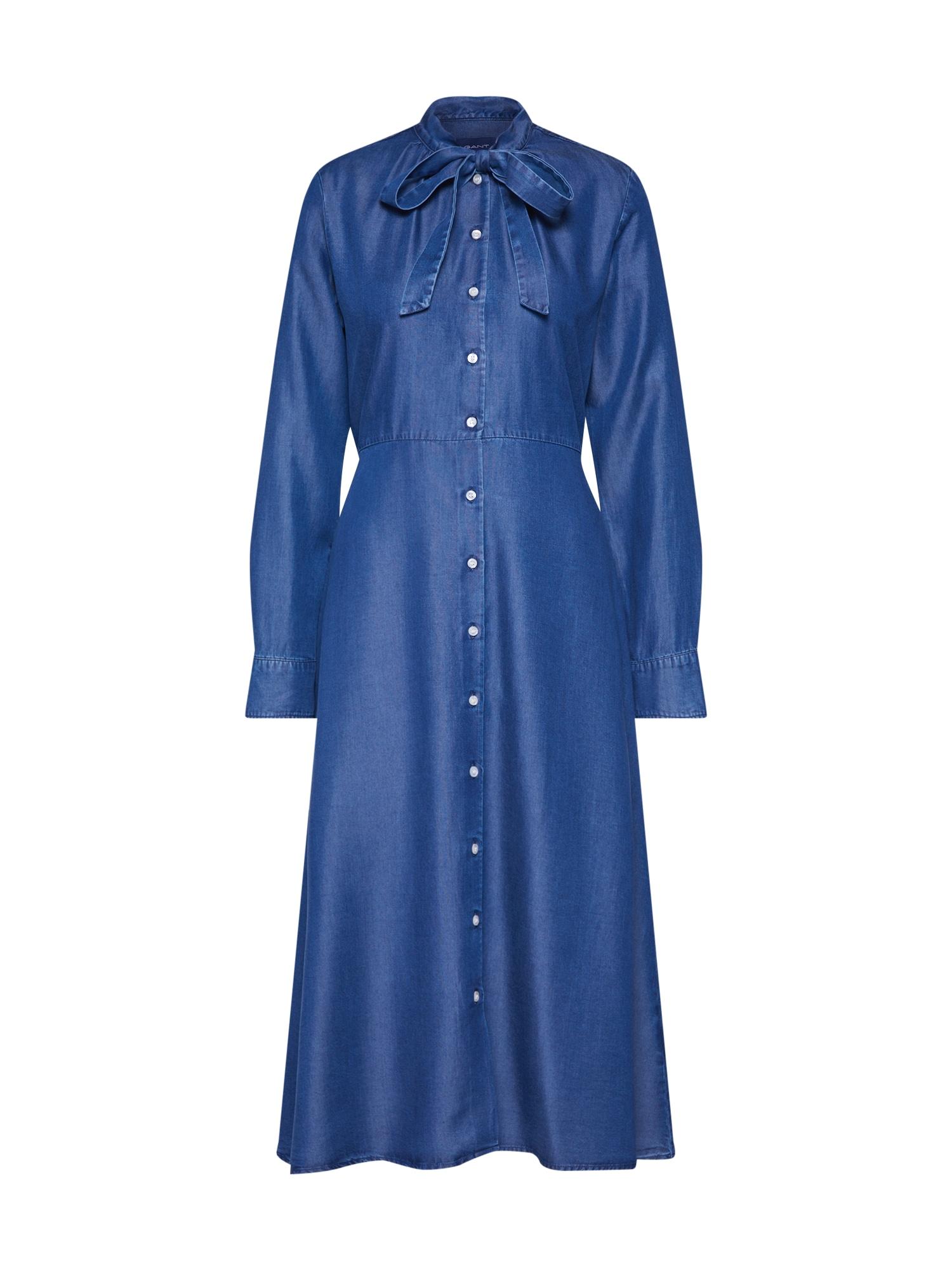 Košilové šaty modrá džínovina GANT