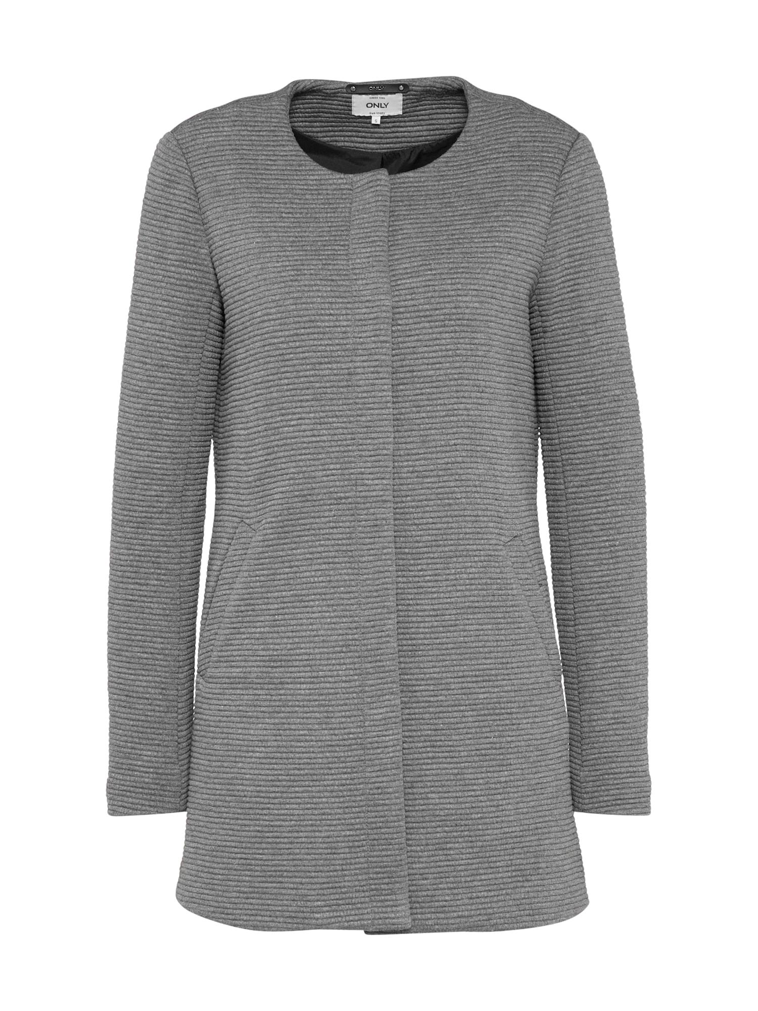 Přechodný kabát SIDNEY šedý melír ONLY