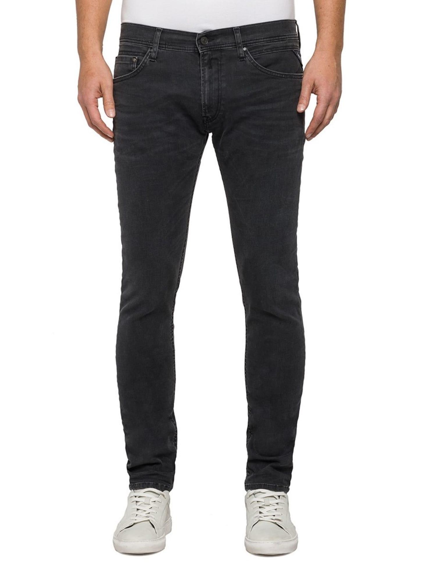 REPLAY Heren Jeans zwart black denim
