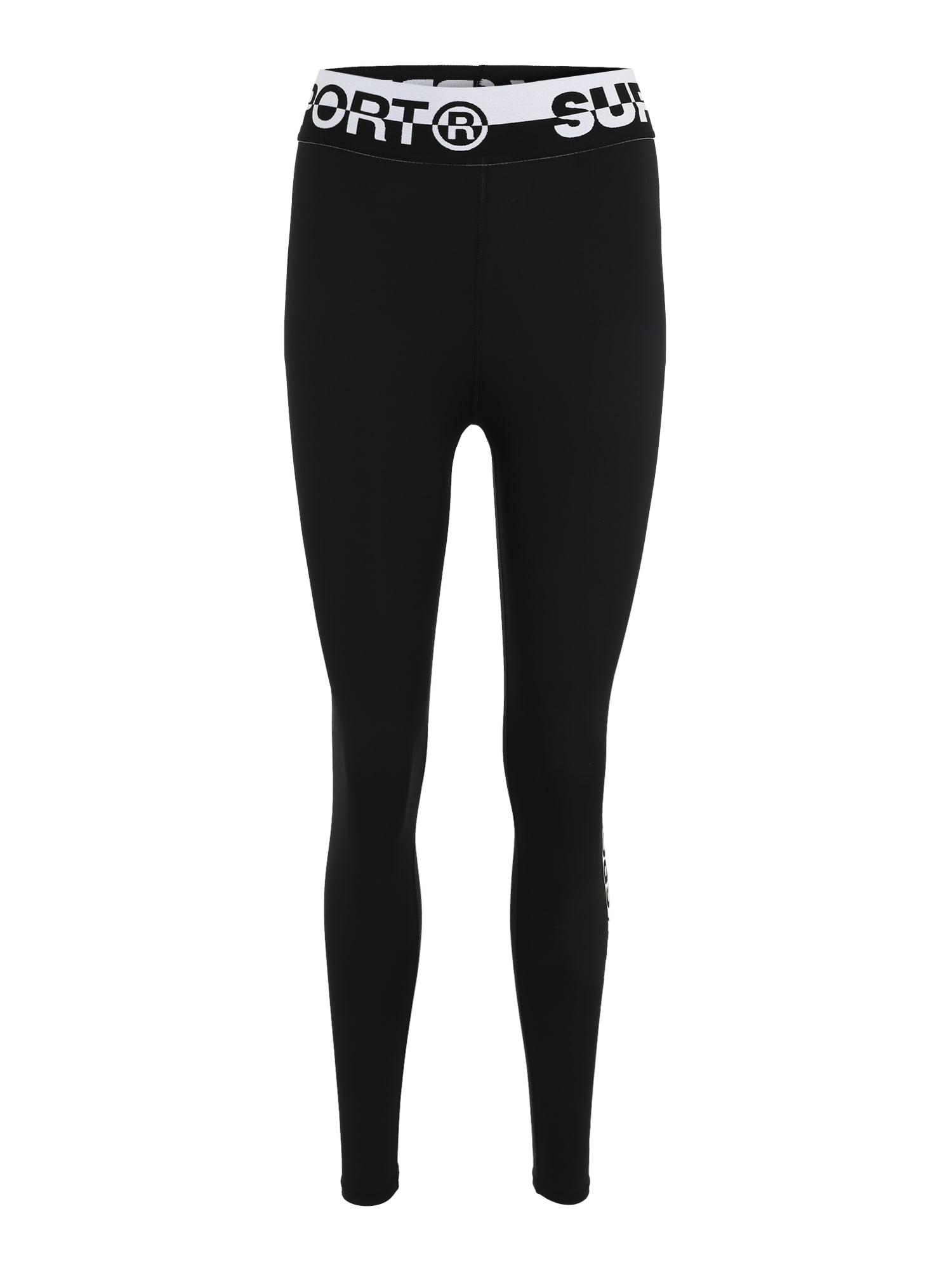 Sportovní kalhoty CORE černá bílá Superdry