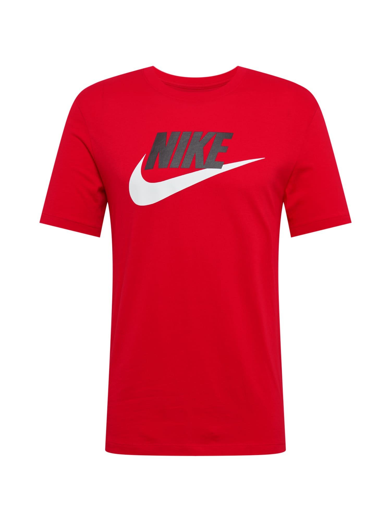 Tričko červená černá bílá Nike Sportswear