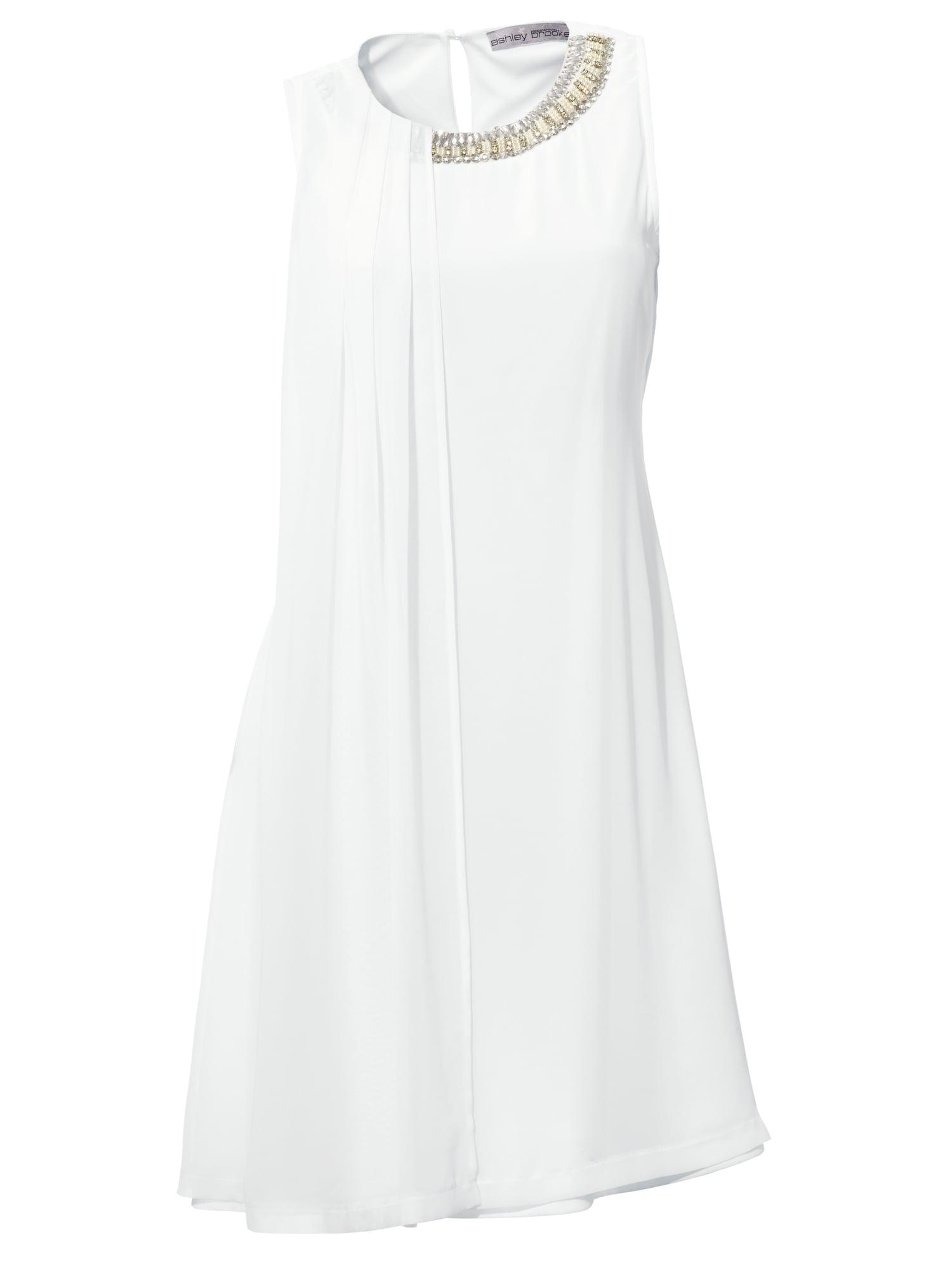 Koktejlové šaty stříbrná bílá Heine
