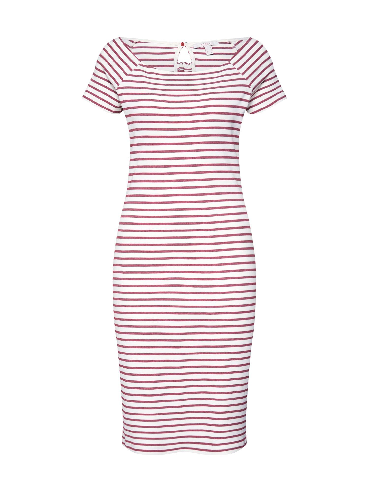 Letní šaty malinová bílá ESPRIT
