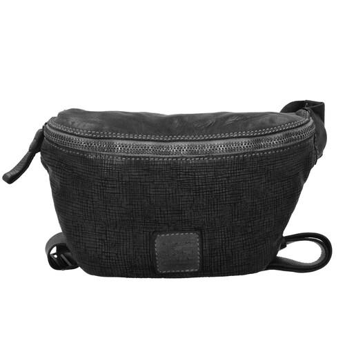 Campomaggi Assenzio Gürteltasche. Das strapazierfähige Leder macht die Tasche deutlich belastbarer und sie hält eine halbe Ewigkeit. Der Prozess zur Herstellung ist von Campomaggi eigens entworfen und patentiert - durch die individuelle Fä