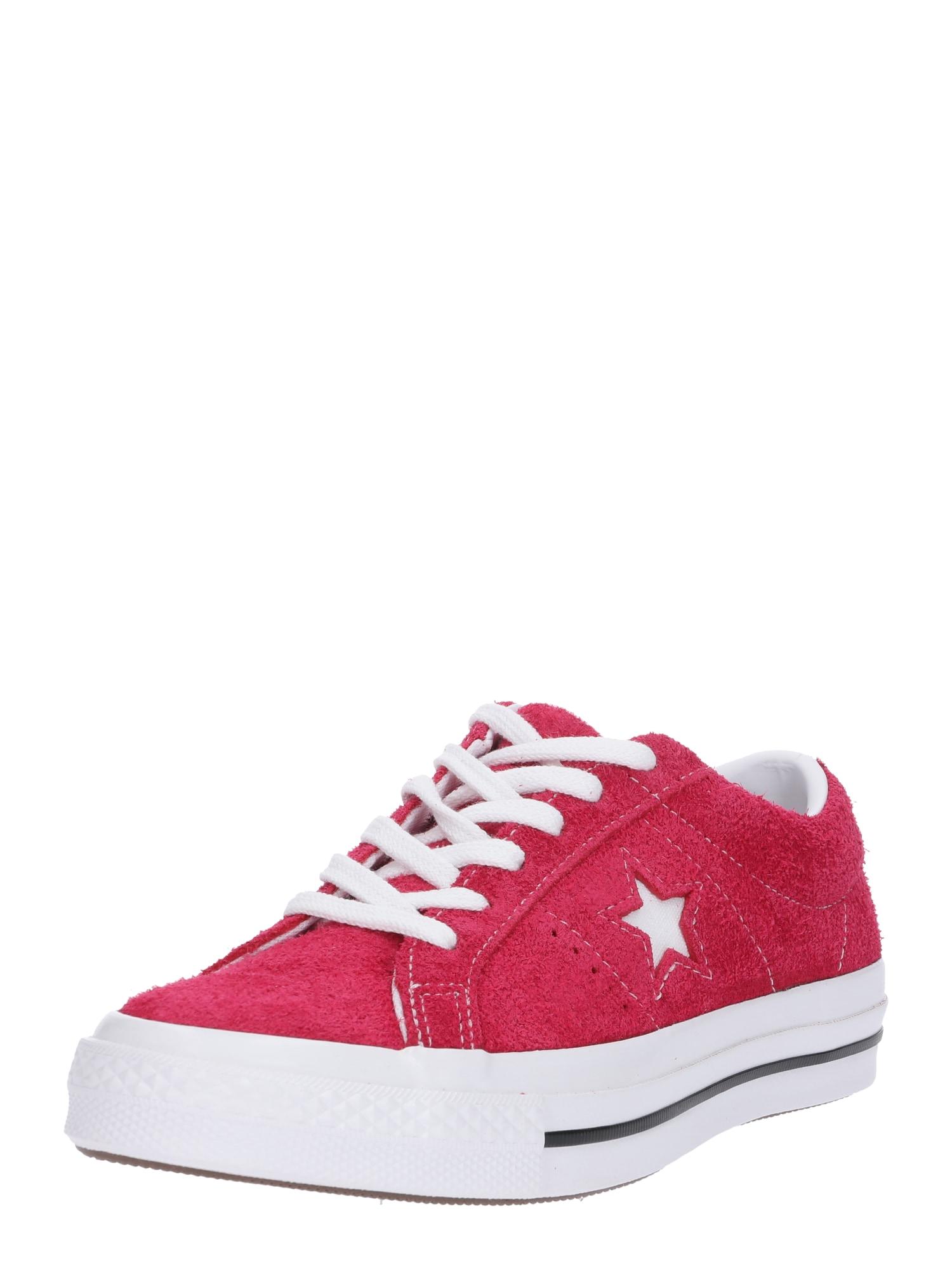 CONVERSE Nízke tenisky 'ONE STAR - OX'  čerešňová / biela